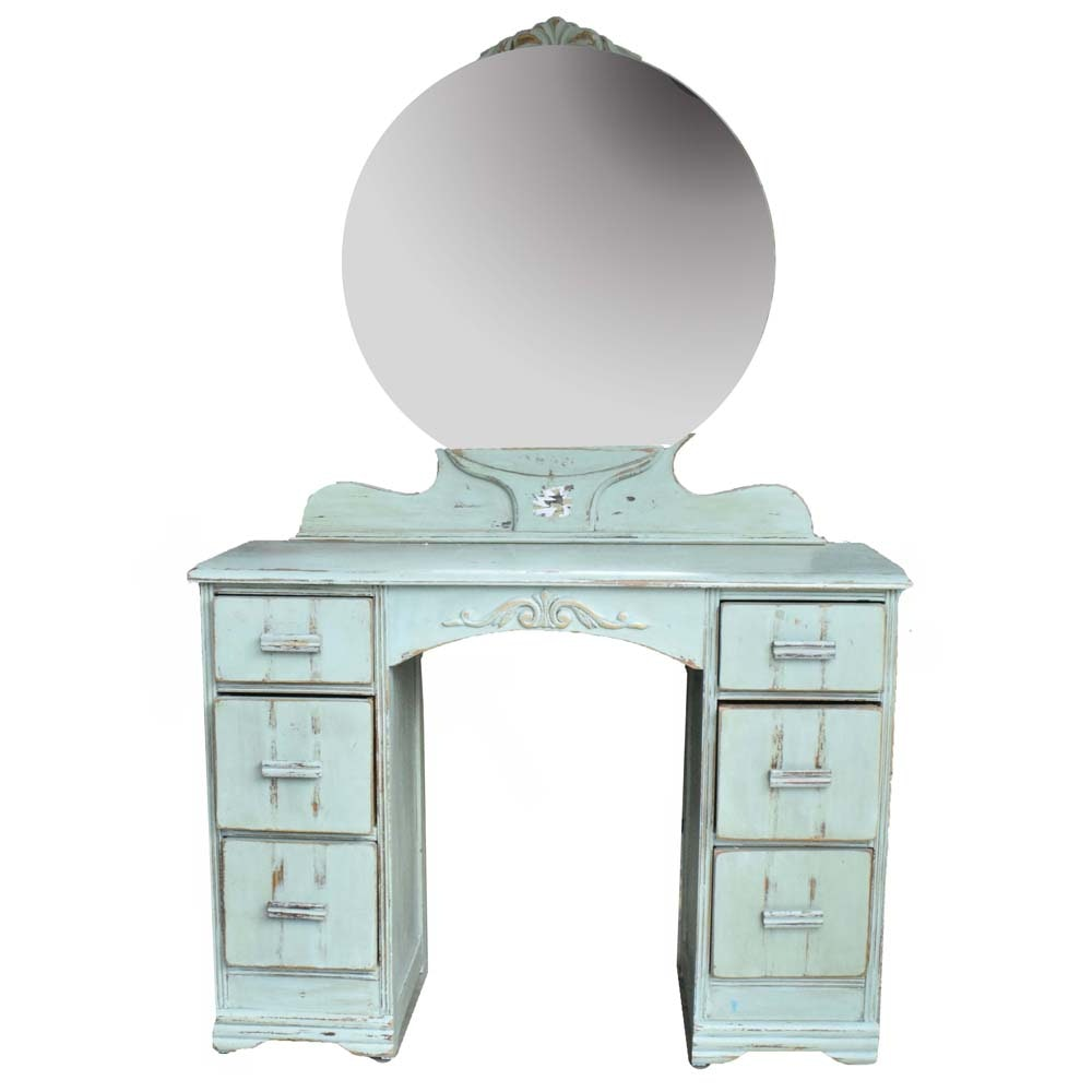 Vintage Painted Art Deco Vanity