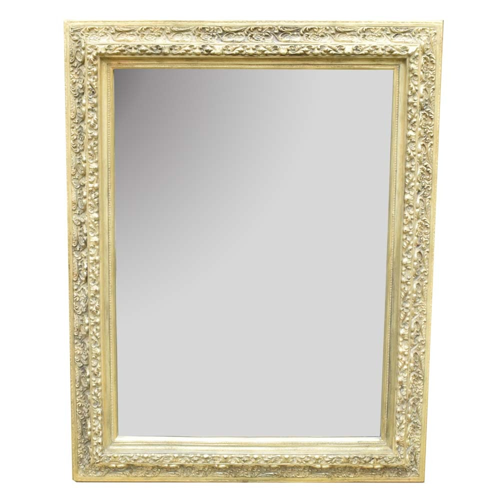 Large Gold Tone Wall Mirror