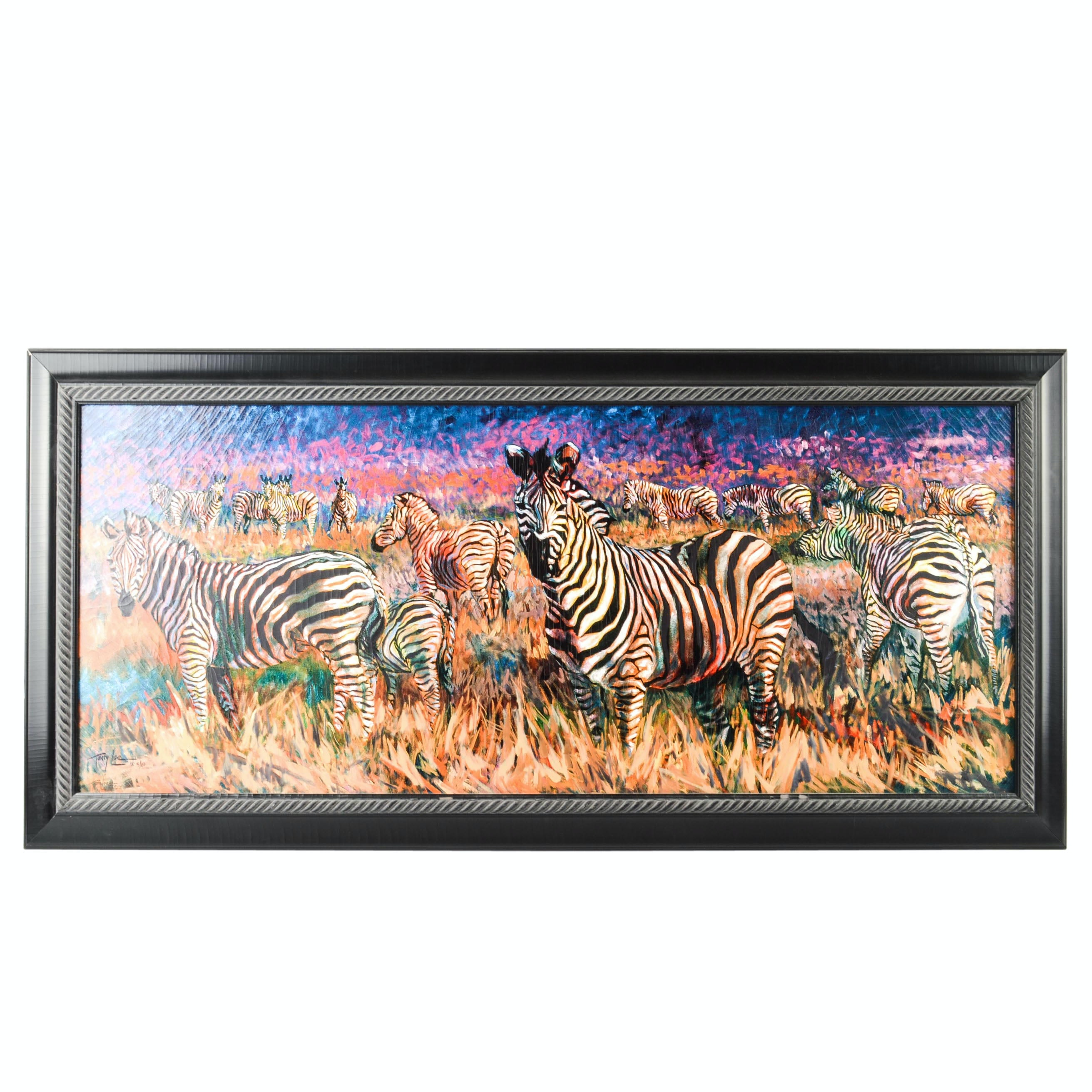 "Terry Lee Limited Edition Giclee on Canvas ""Legends of Africa II-Zebra"""