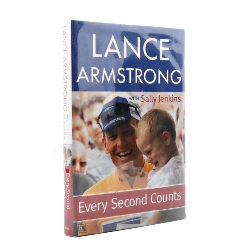 "Signed First Edition Lance Armstrong, ""Every Second Counts"""