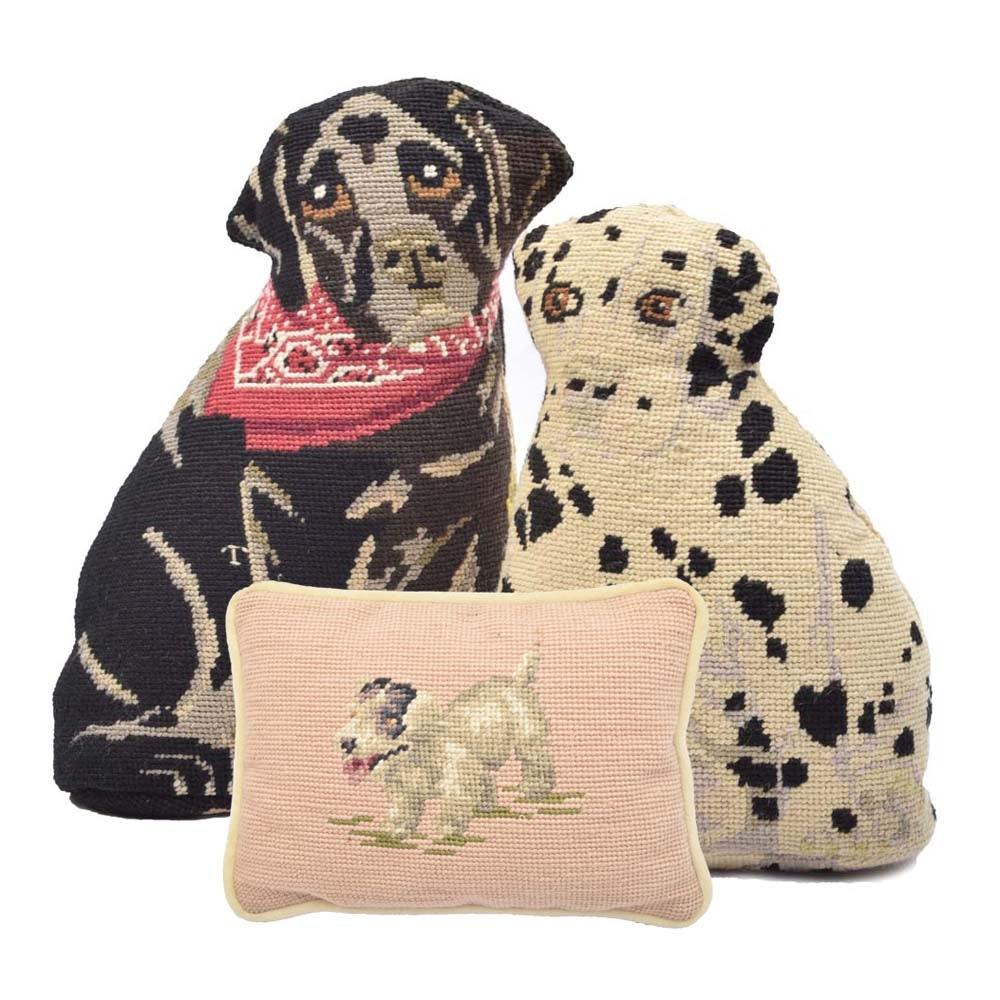 Needlepoint Dog Pillows
