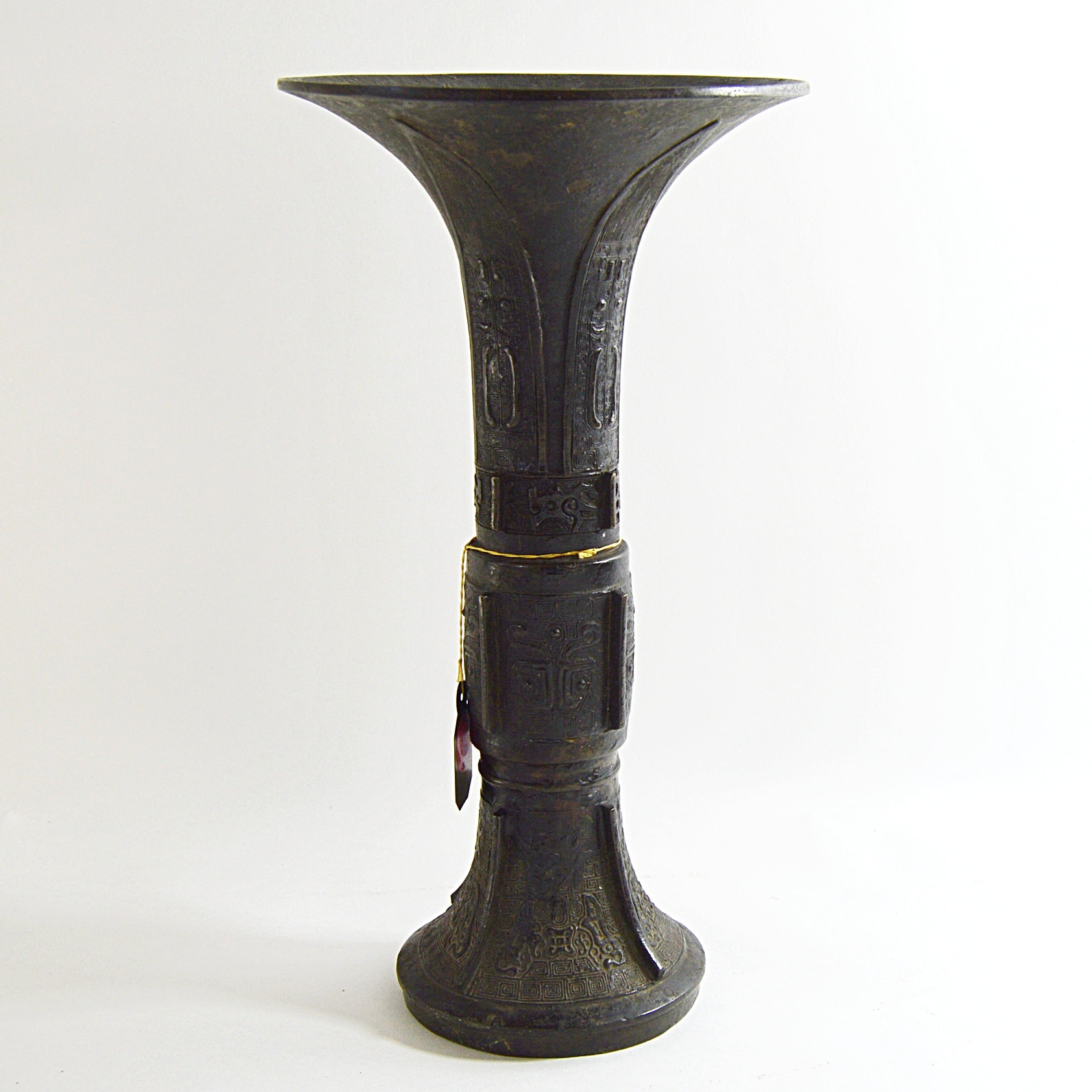 Late Ming-Early Qing Chinese Bronze Gu Vase