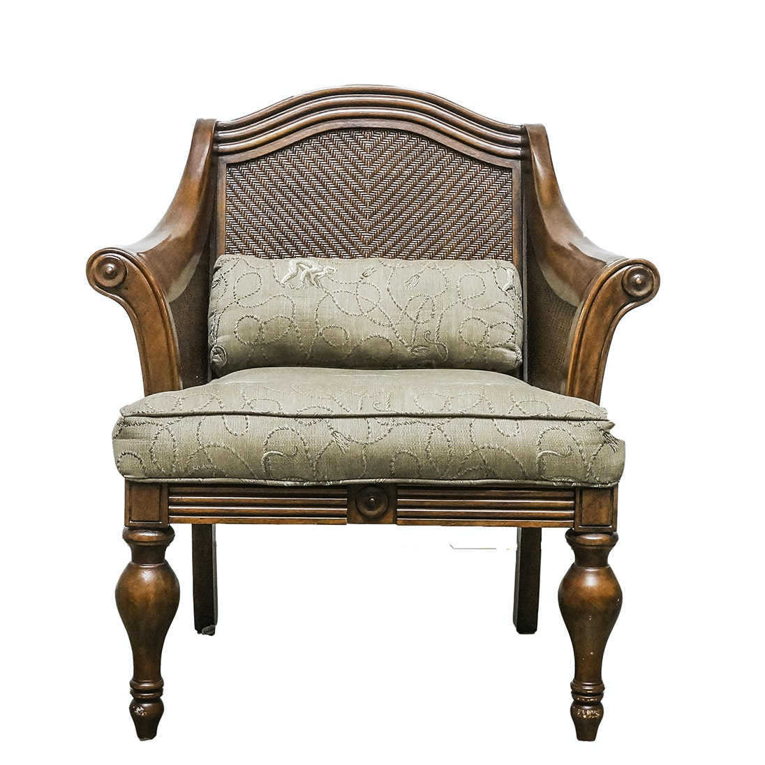 Beau British Colonial Style Armchair ...