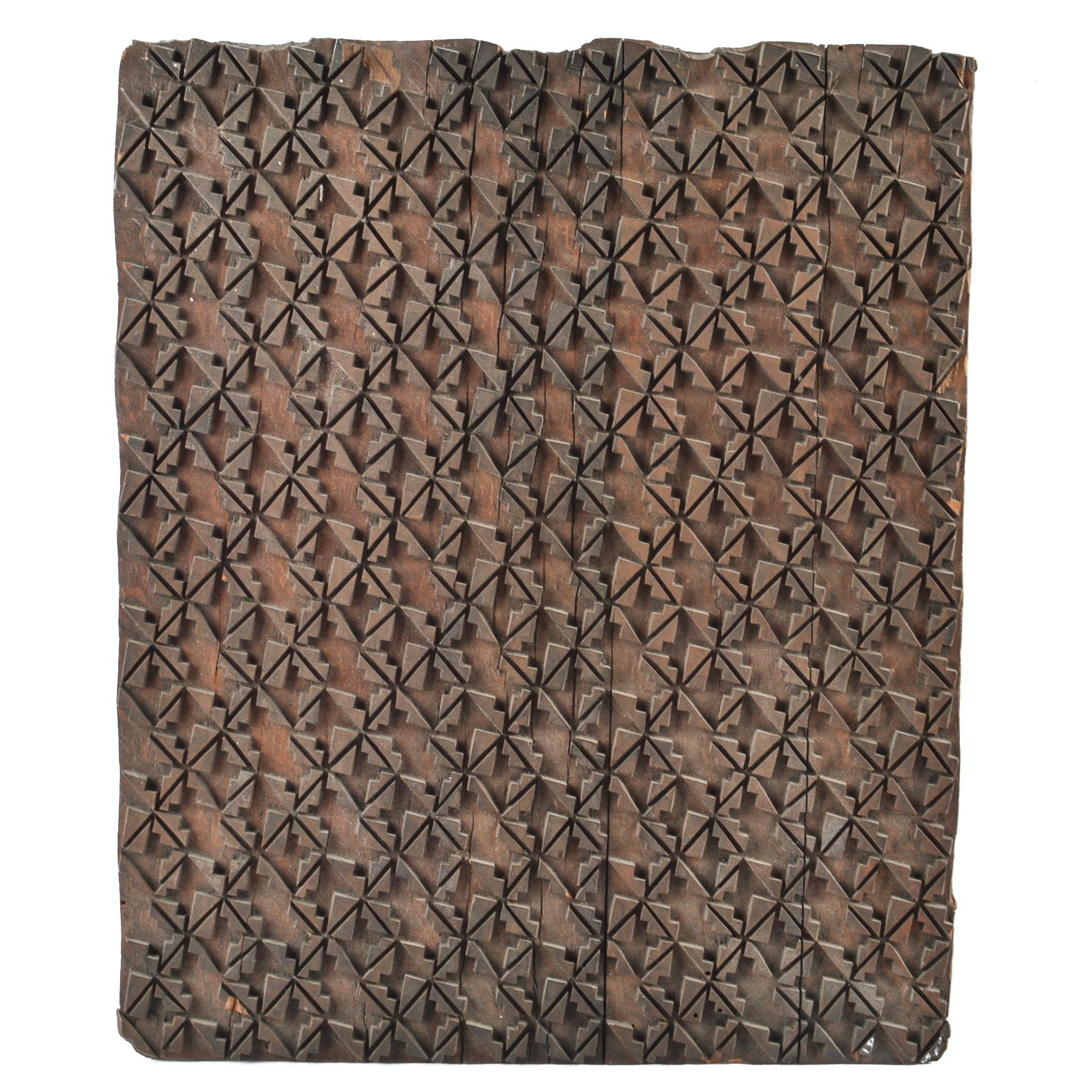 Antique to Vintage Textile Printing Block