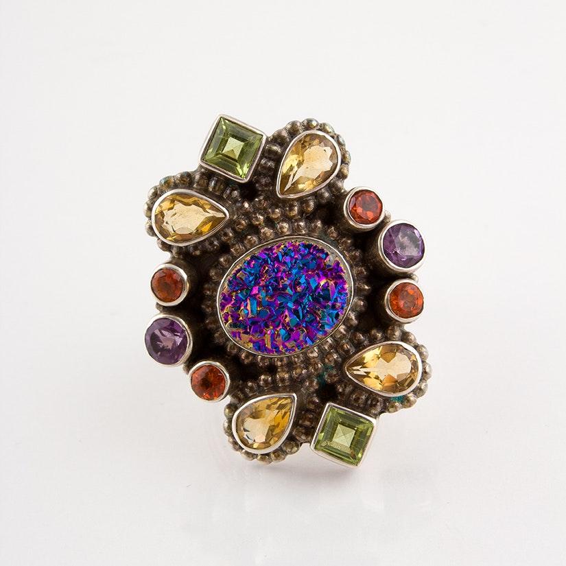 Nicky Butler Sterling Silver Multi-Stone Ring