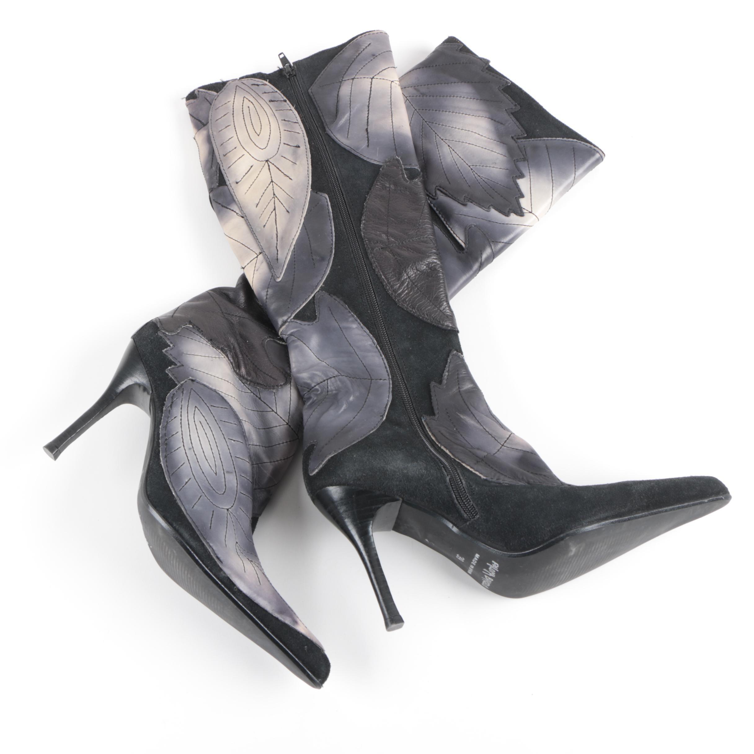 Paloma Barceló Leather Stiletto Statement Boots