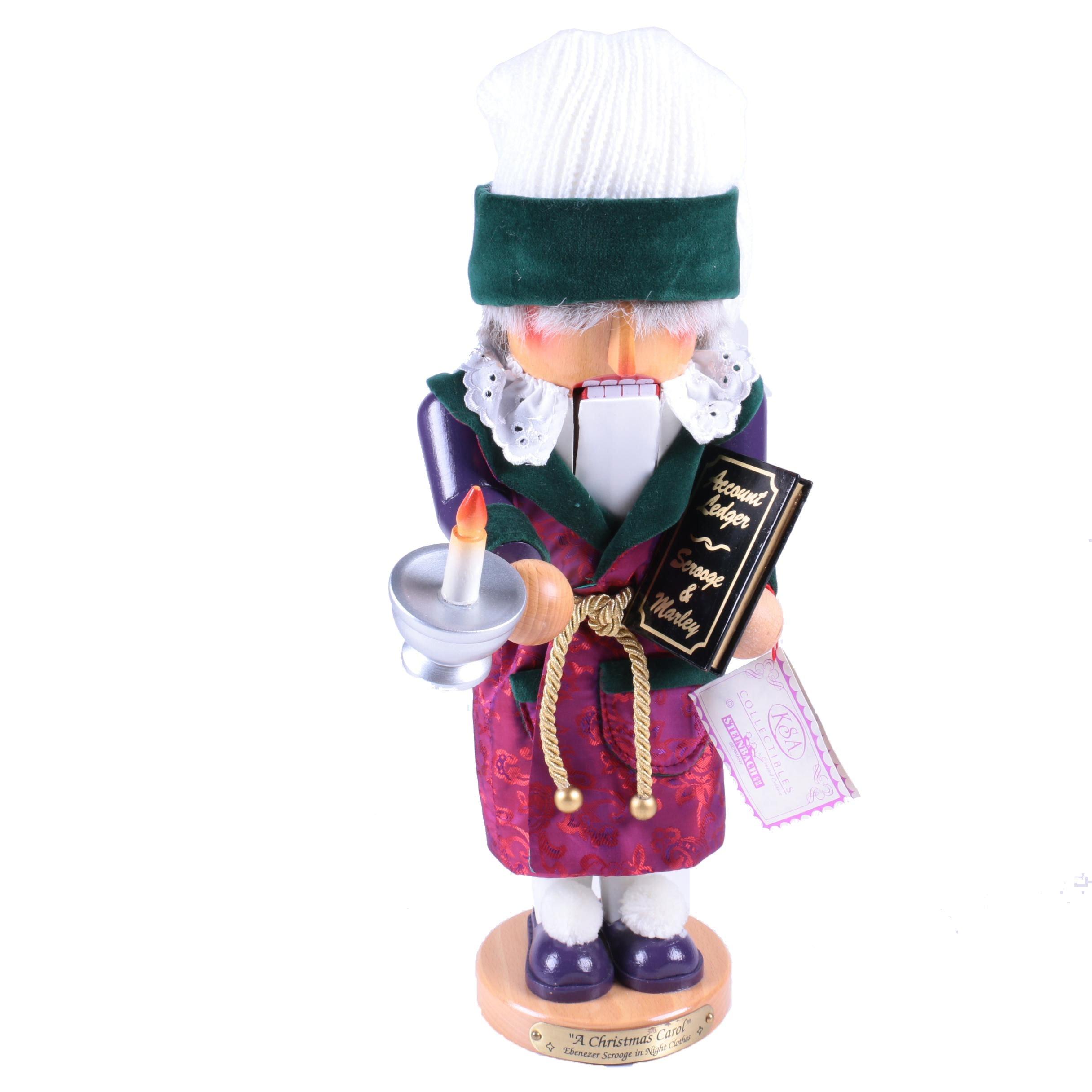 Steinbach Handcrafted Scrooge Wooden Nutcracker