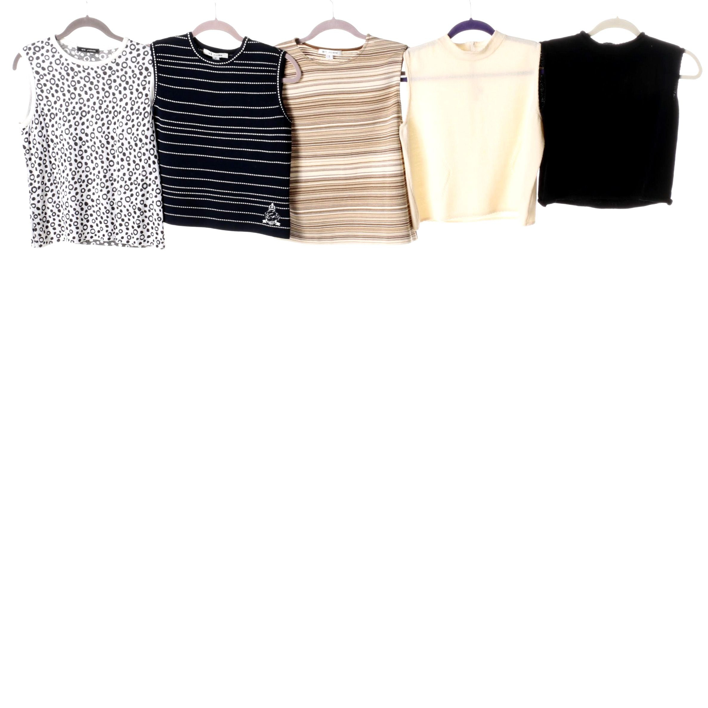 St. John Sleeveless Top Assortment