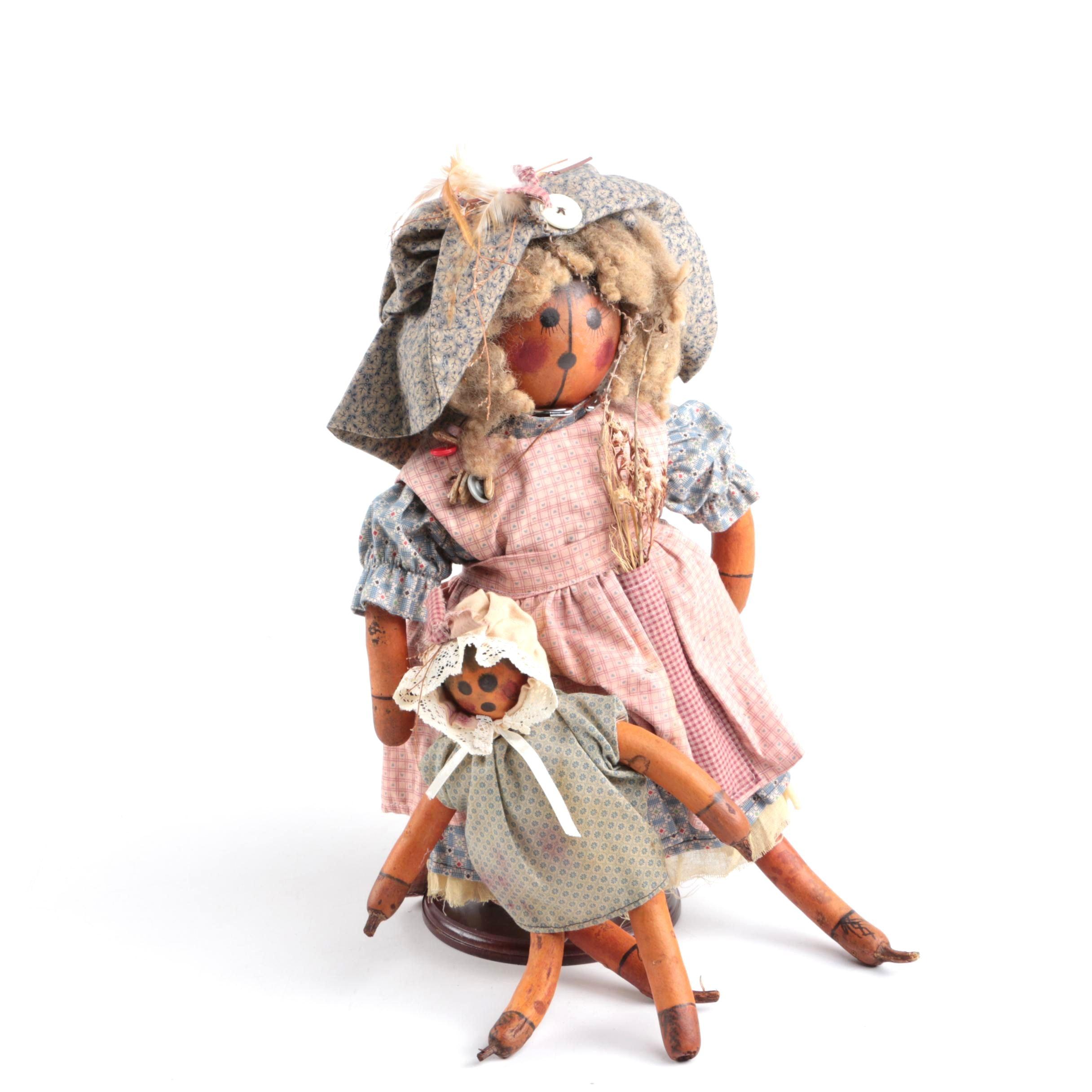 Dyan Mai Peterson Gourd Art Dolls