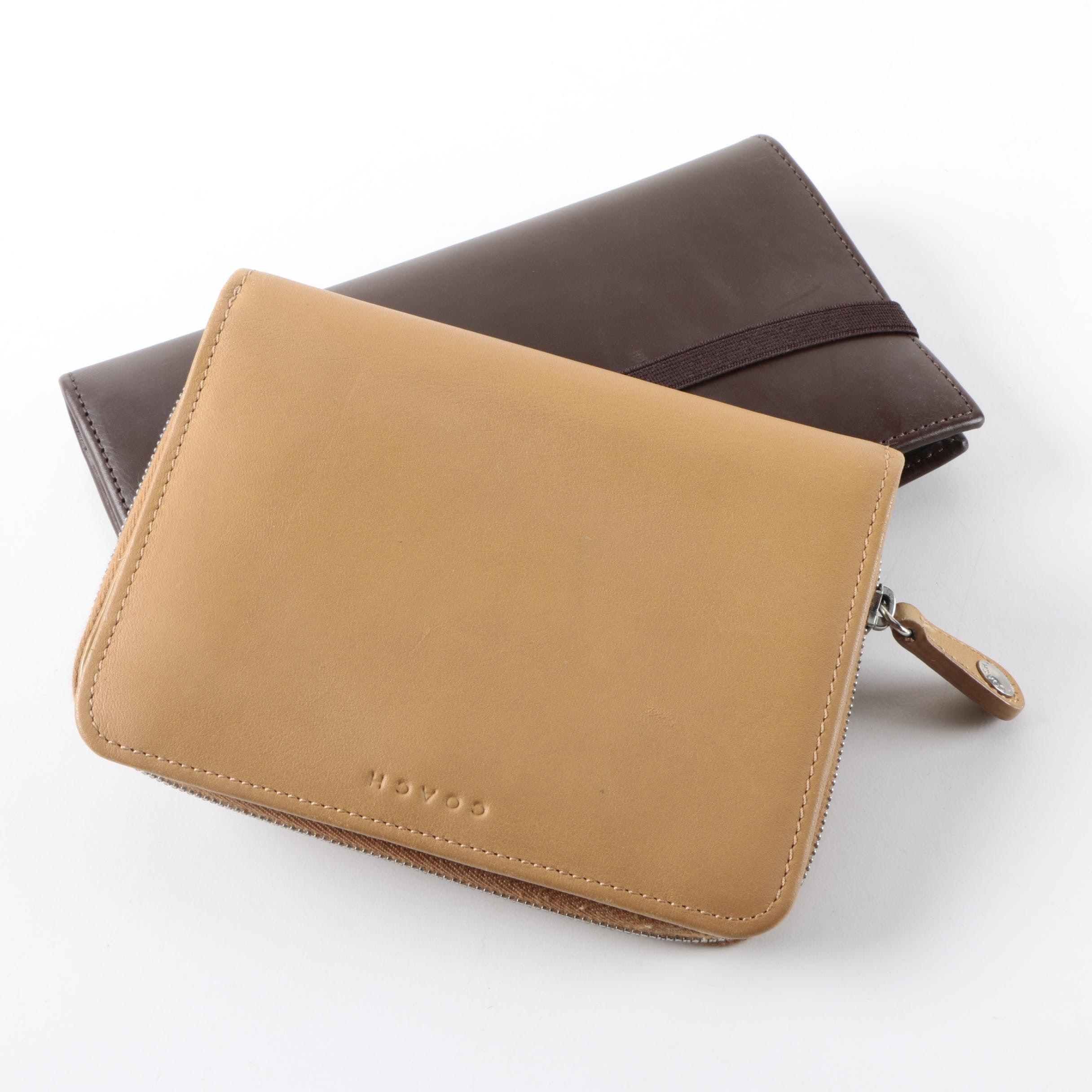 Coach Zippered Wallet and Leather Planner