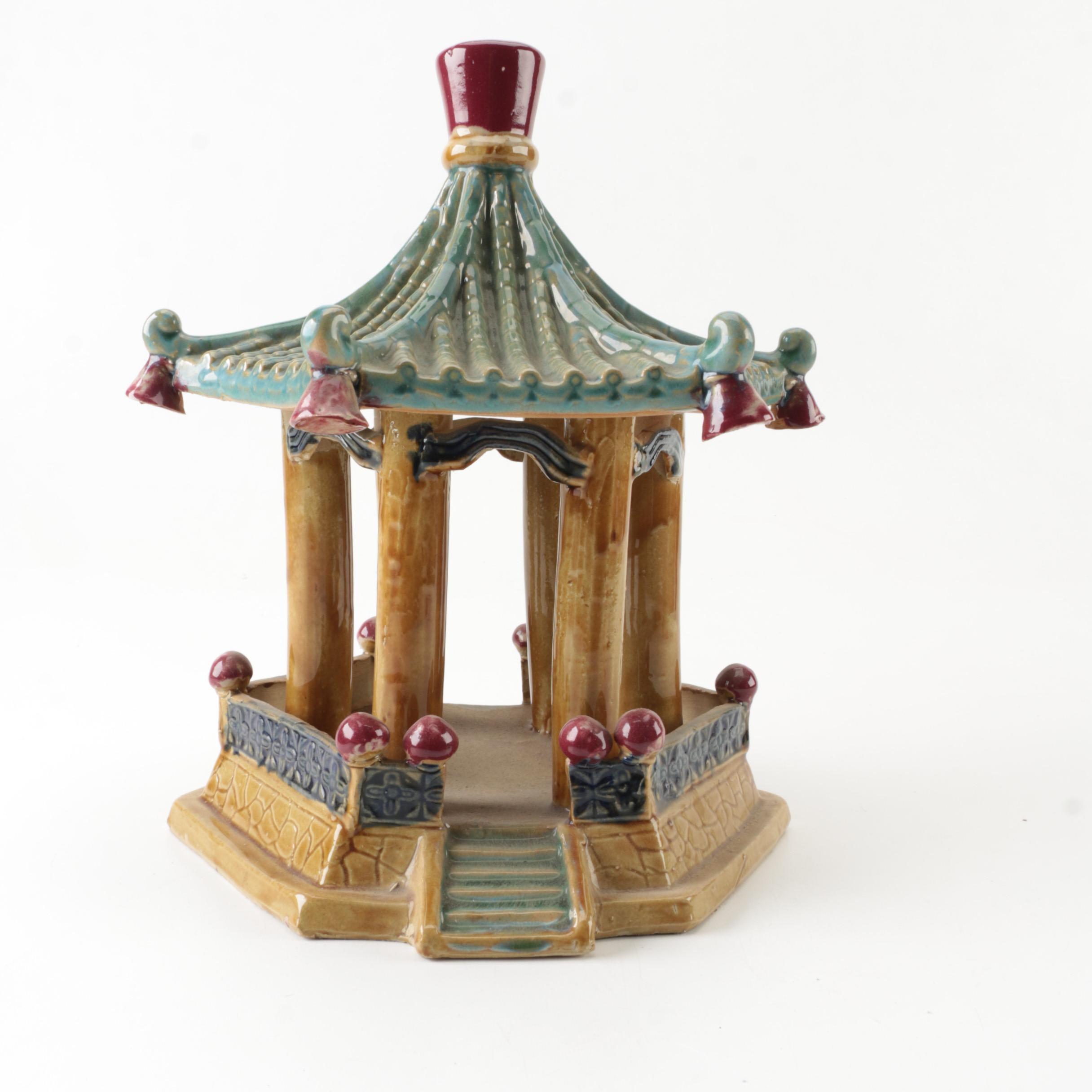 Chinese Garden Pagoda Figurine