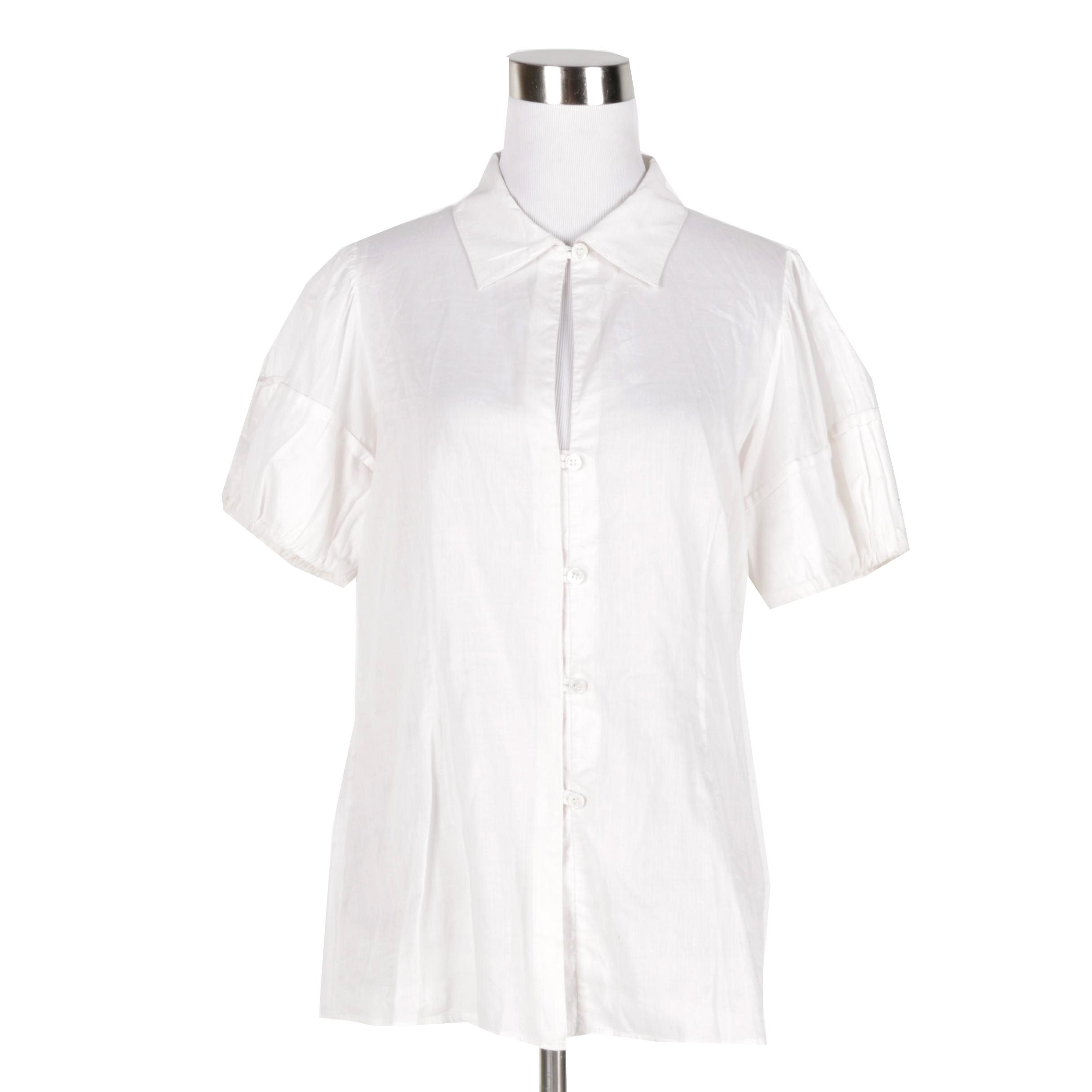 Women's Theory Cotton Button-Down