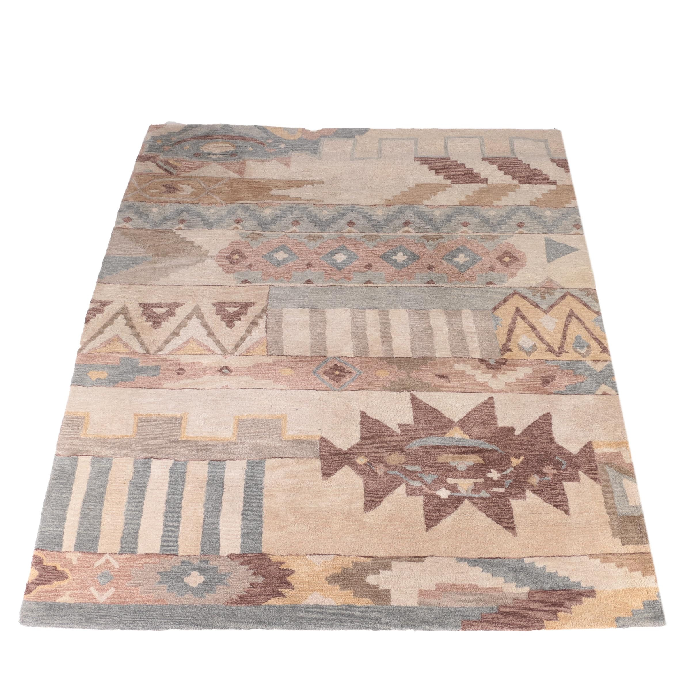 Large Hand-Tufted Area Rug