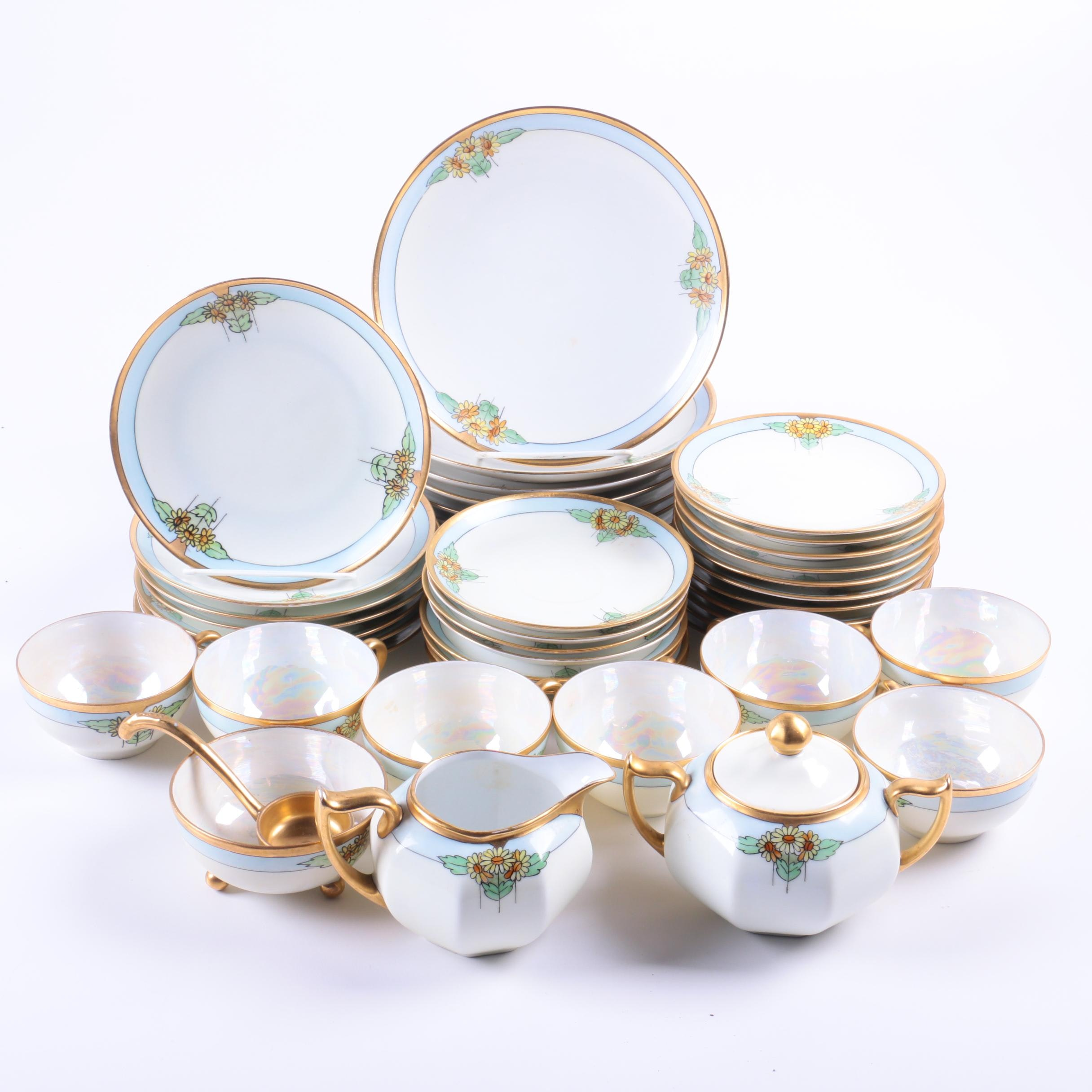 Hand Painted Nippon Porcelain Tableware