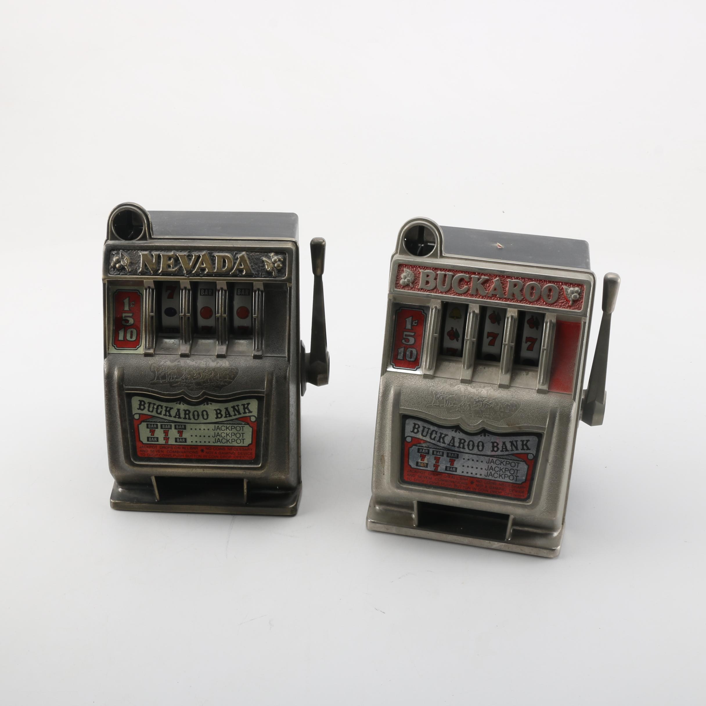 Pair of Mini Slot Machine Banks