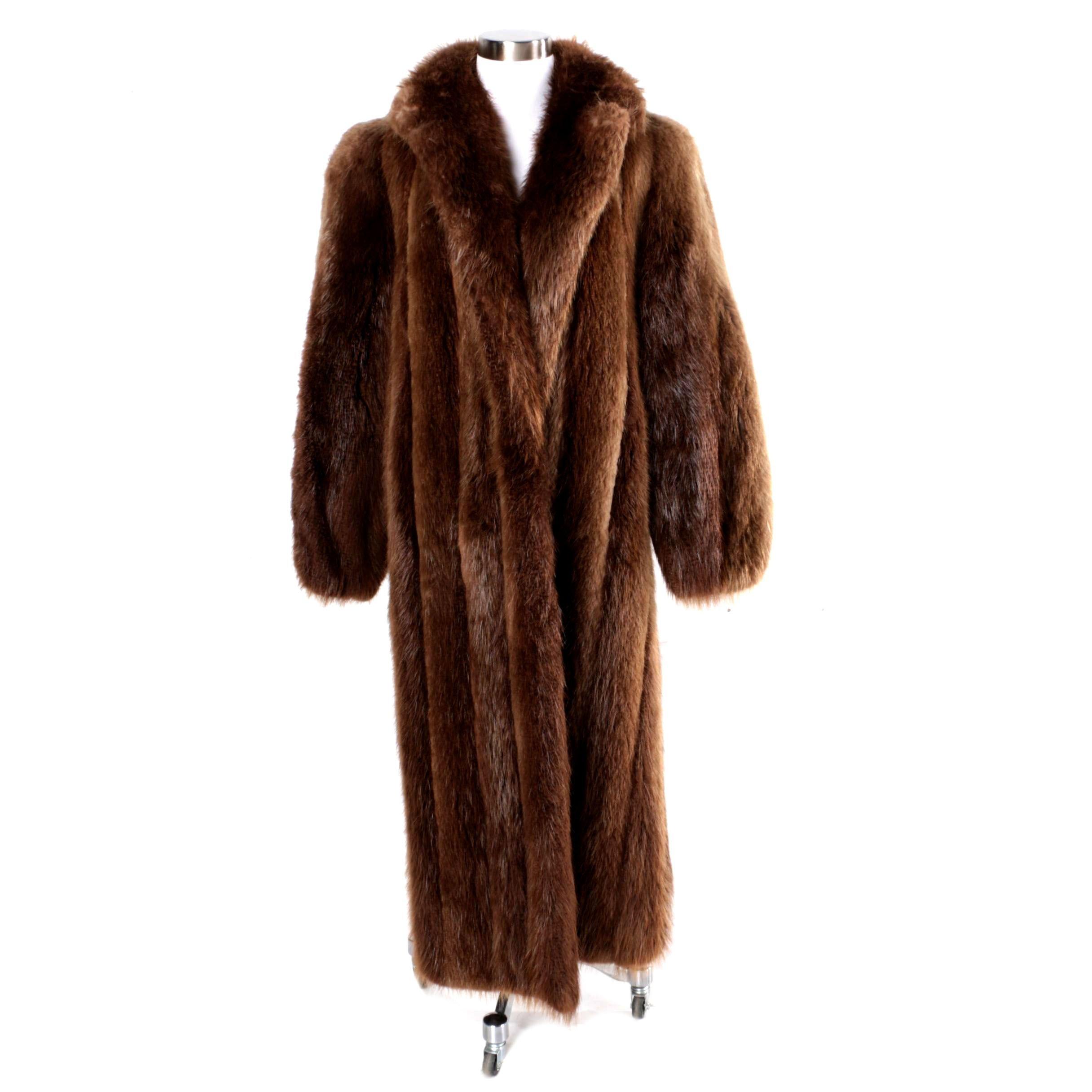 Vintage Beaver Fur Coat by Dittrich