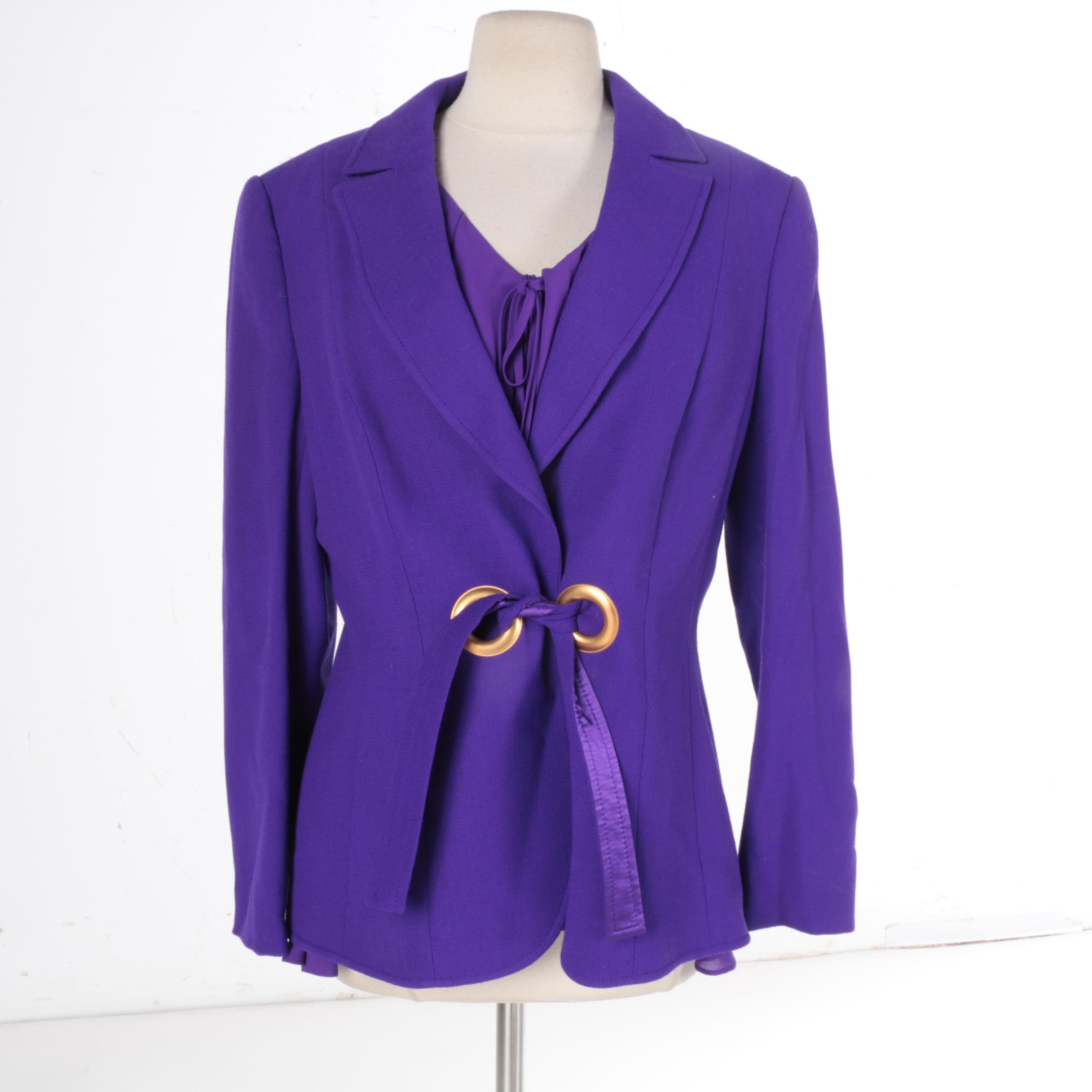 Escada Wool Jacket and Silk Blouse