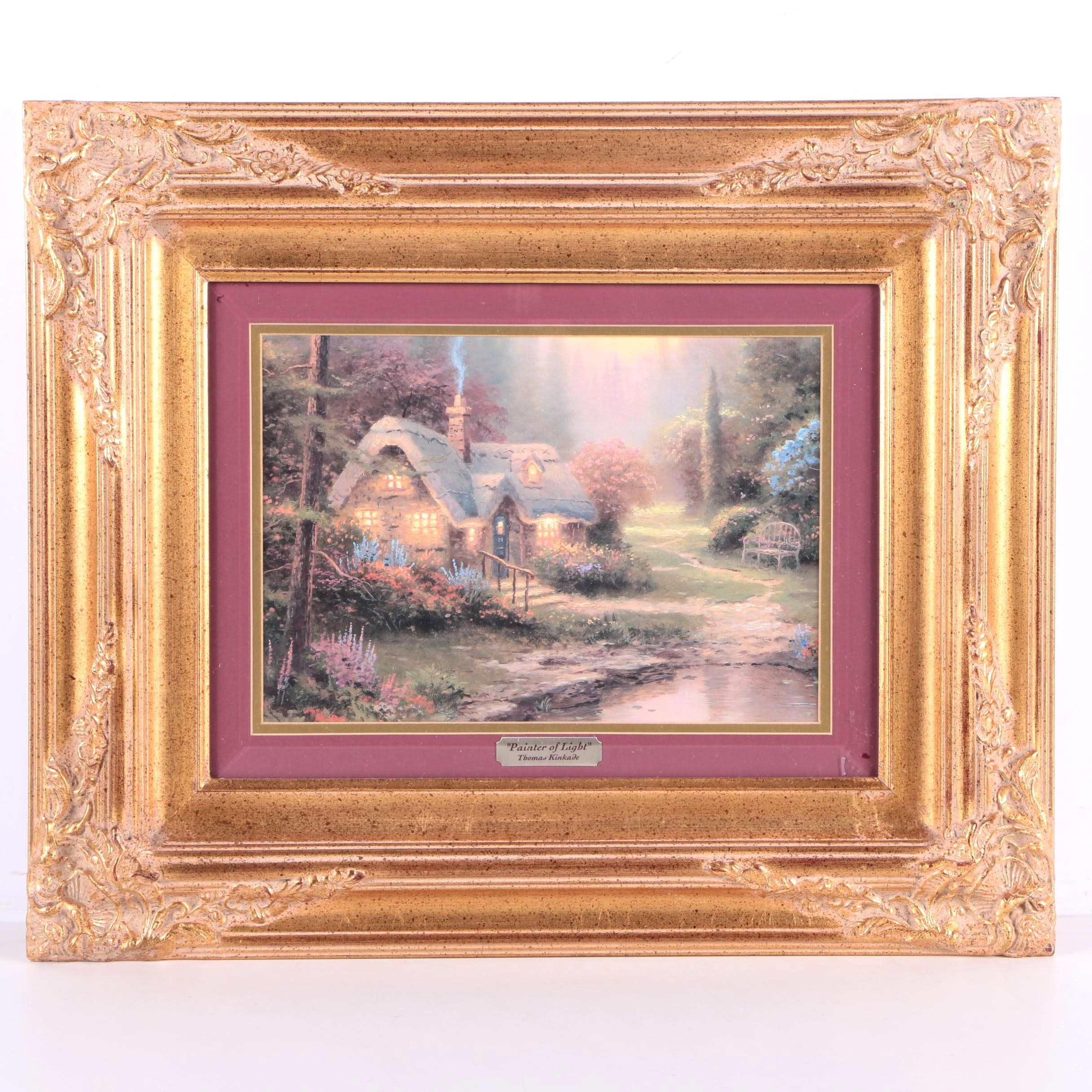"Offset Lithograph Print ""Meadowood Cottage"" After Thomas Kinkade"