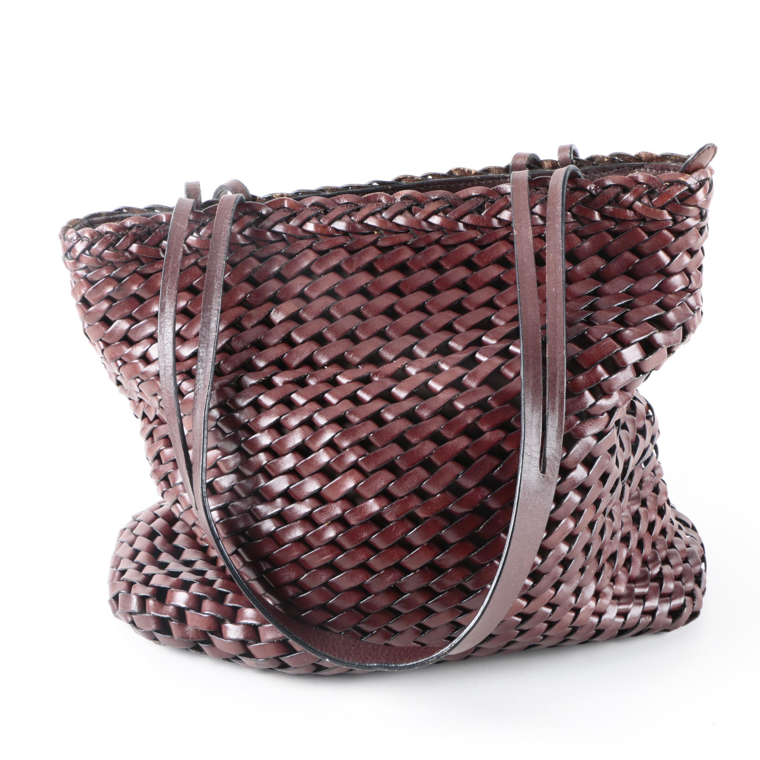 HOBO International Woven Leather Handbag