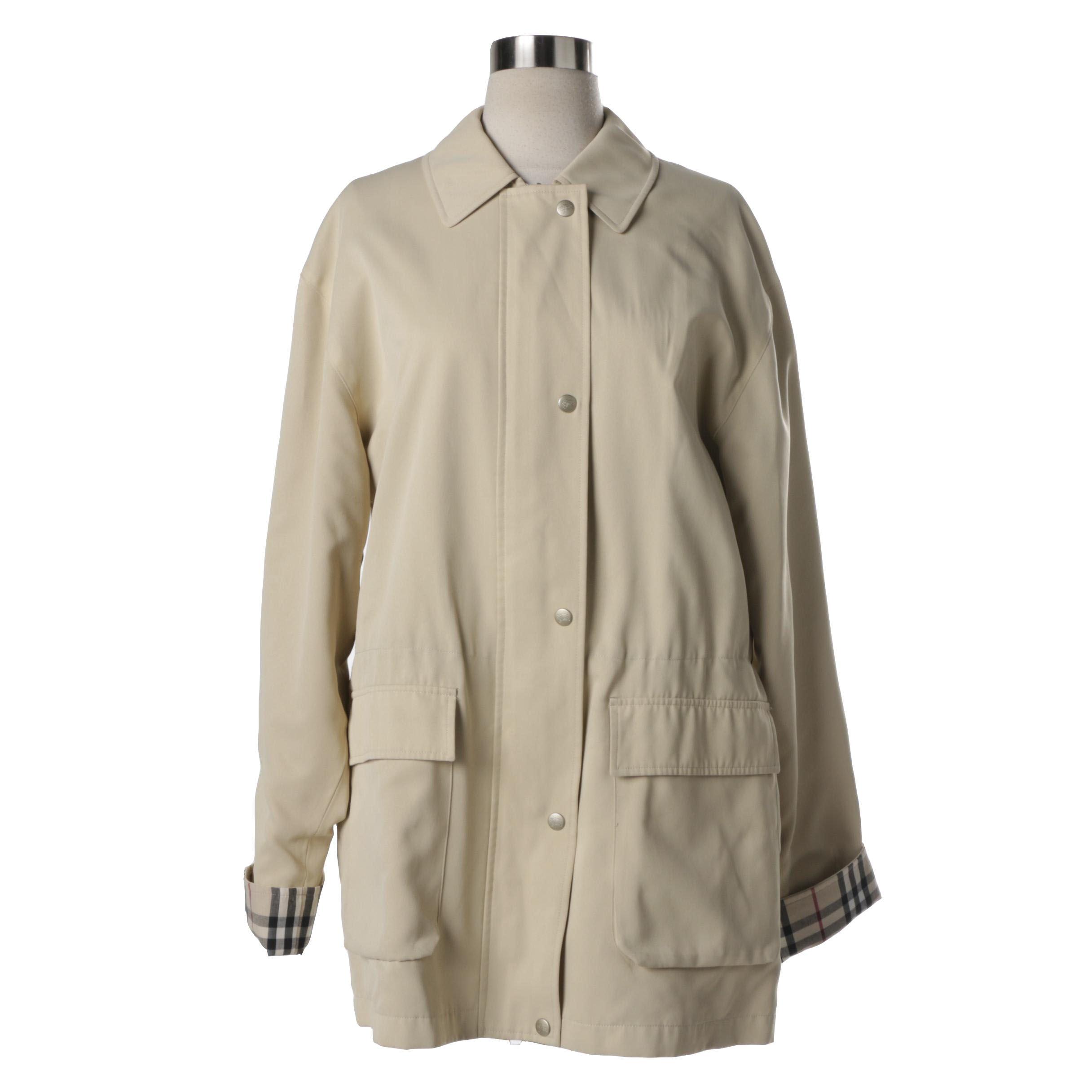Women's Burberry London Beige Poly Blend Coat