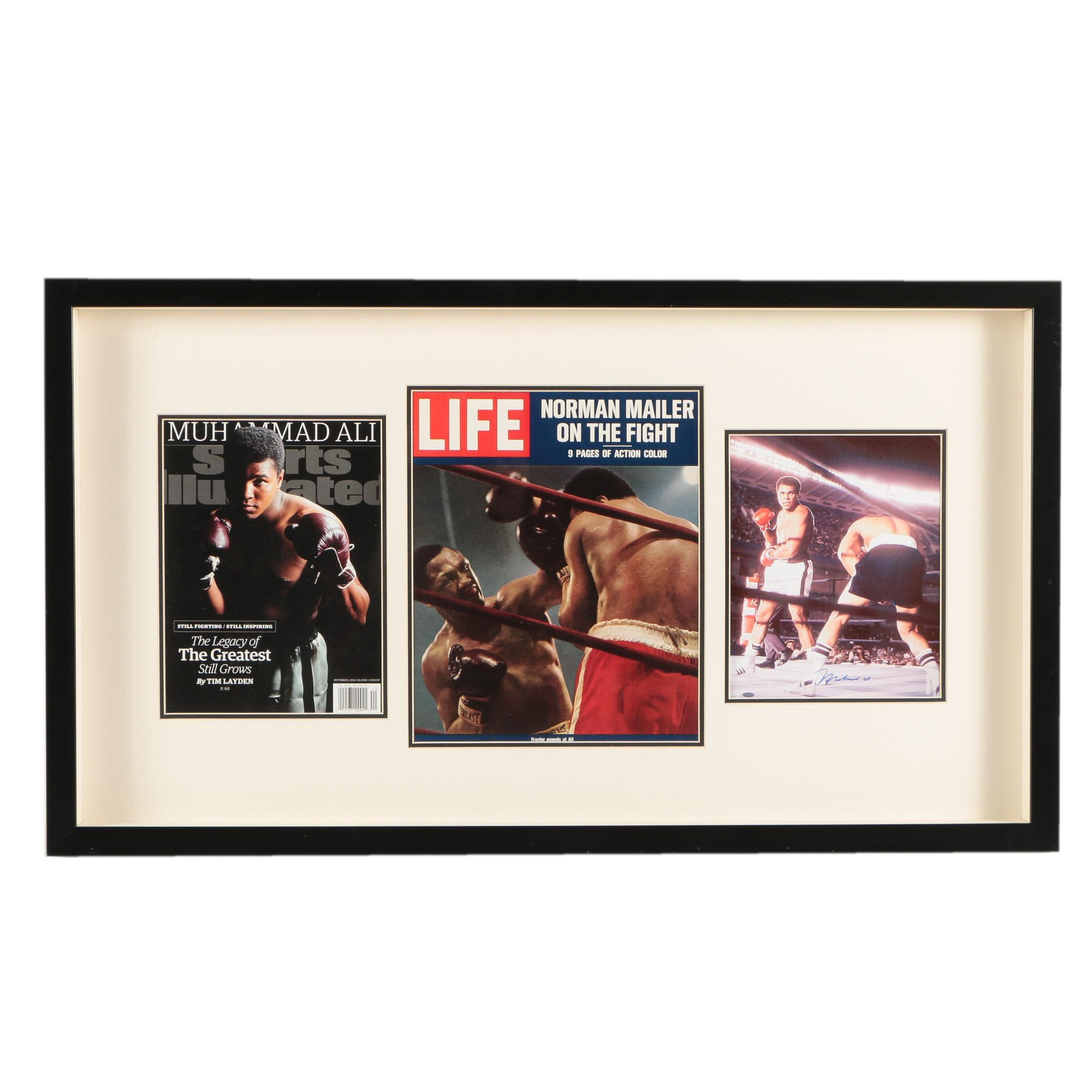Muhammad Ali Magazine Covers and Reproduction Photograph