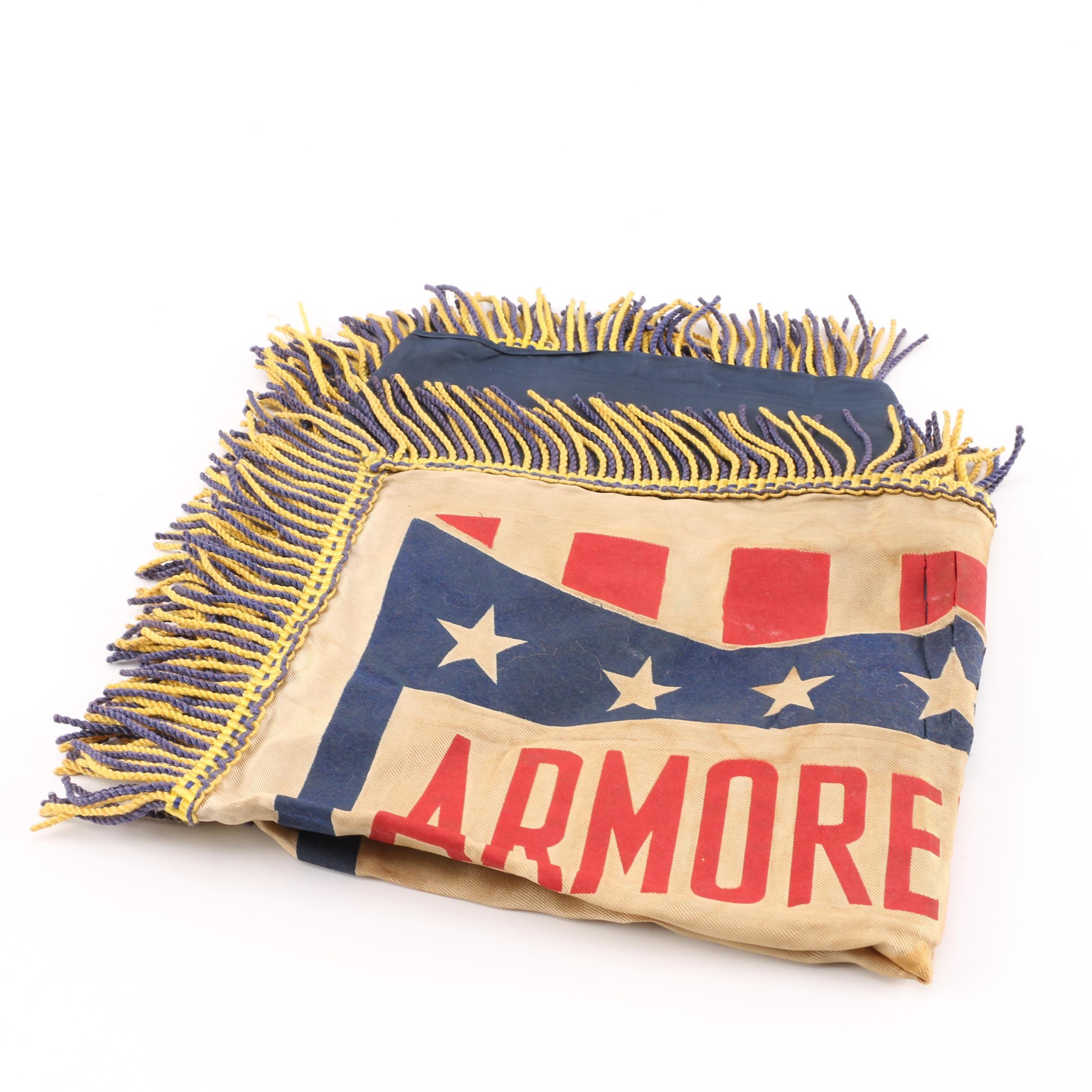 Vintage Armored Force Souvenir Pillow Cover