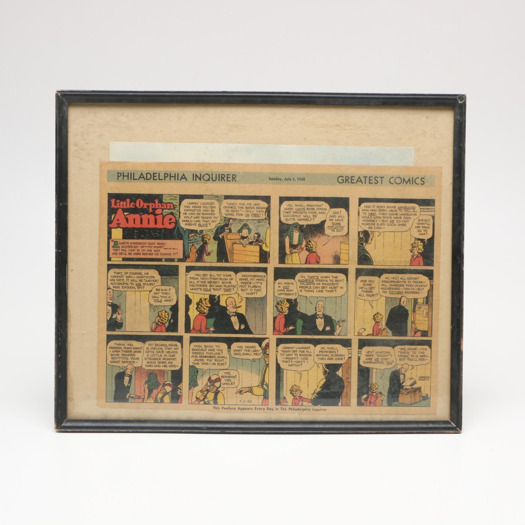 """1950 """"Little Orphan Annie"""" Newspaper Comic Strip"""