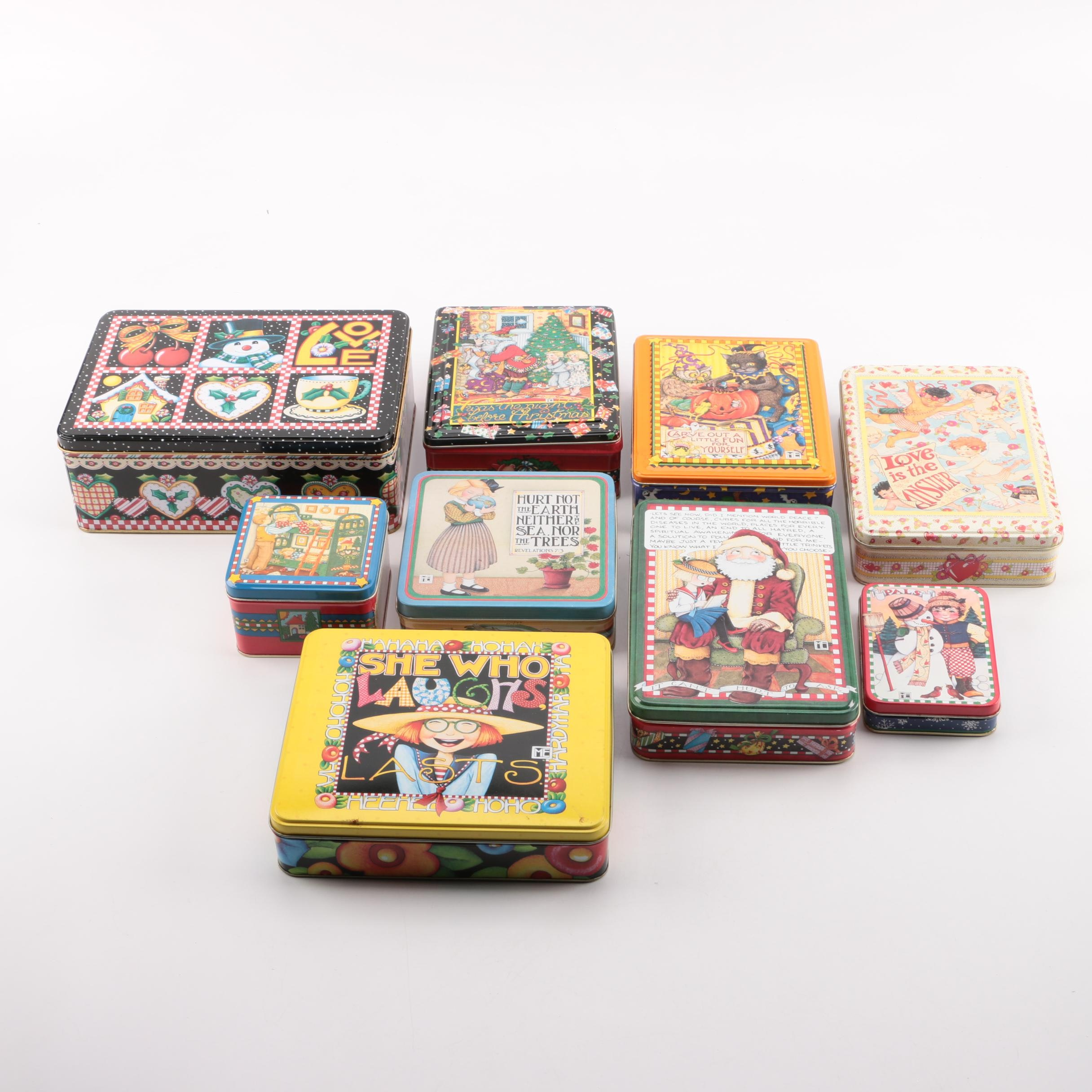 Collection of Mary Engelbreit Tins
