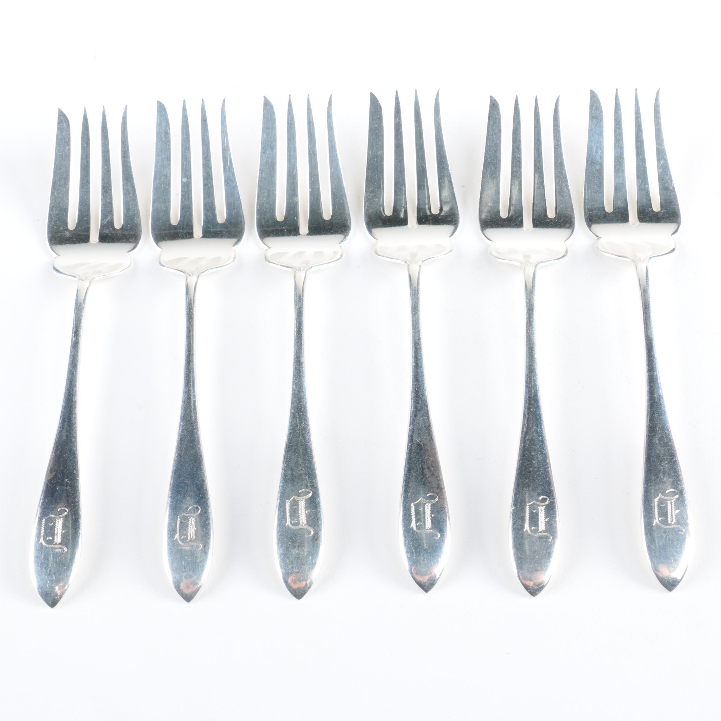 """Gorham """"Mothers-Old"""" Sterling Silver Salad Forks"""
