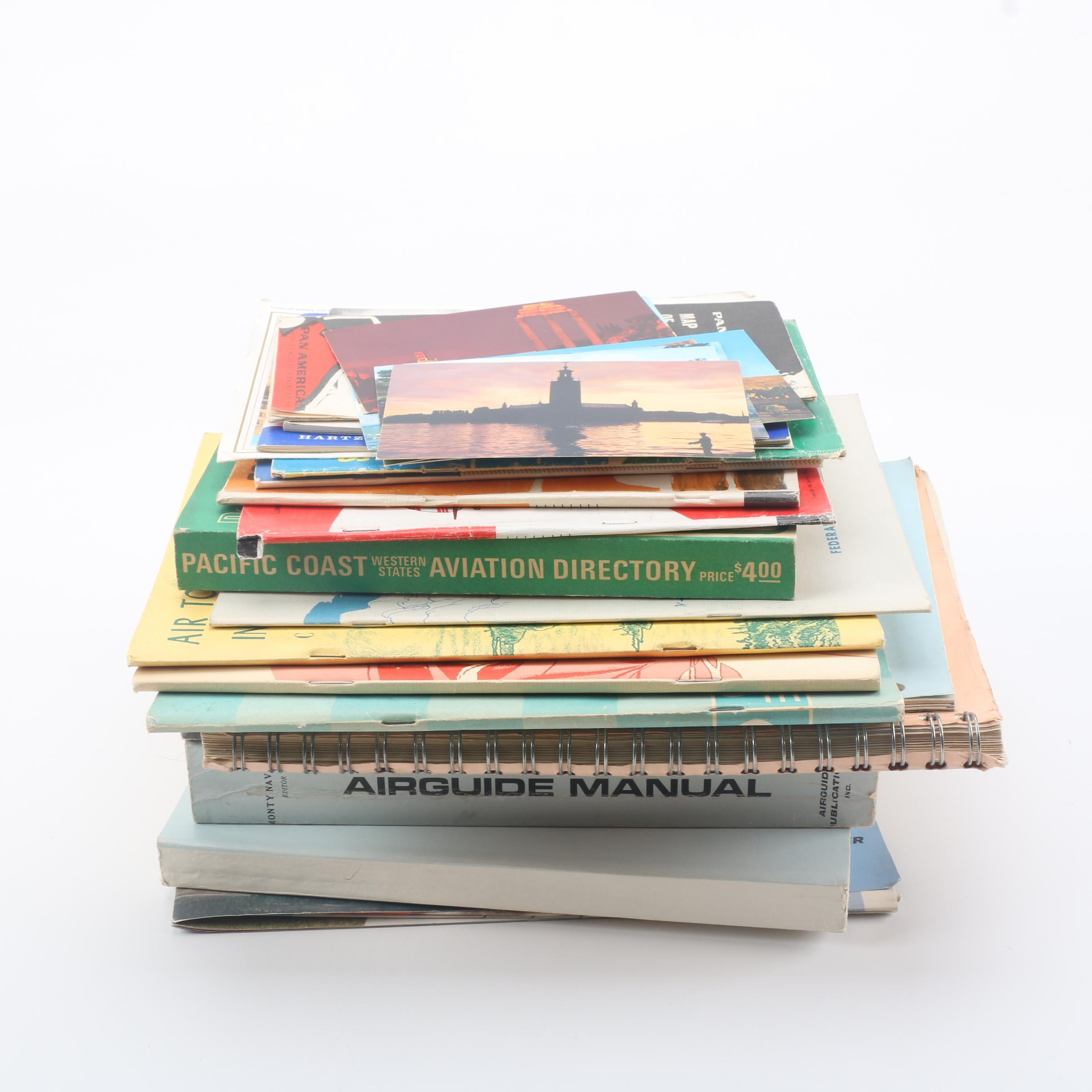 Aviation Booklets and Travel Postcards