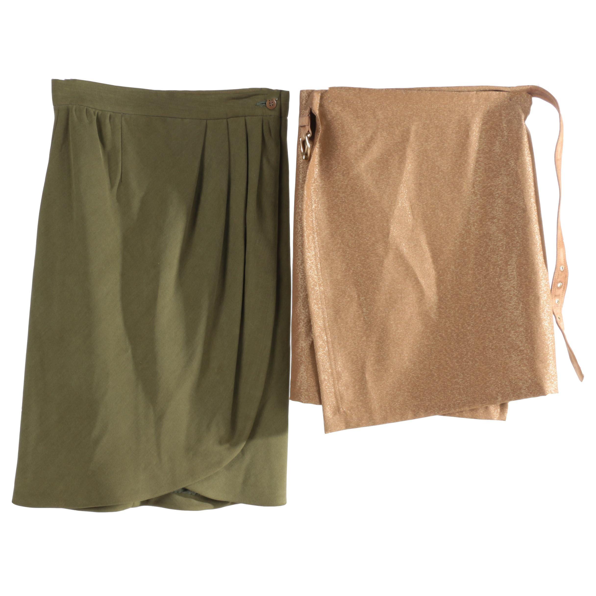 Women's Giorgio Armani and Isaac Mizrahi Wrap Skirts
