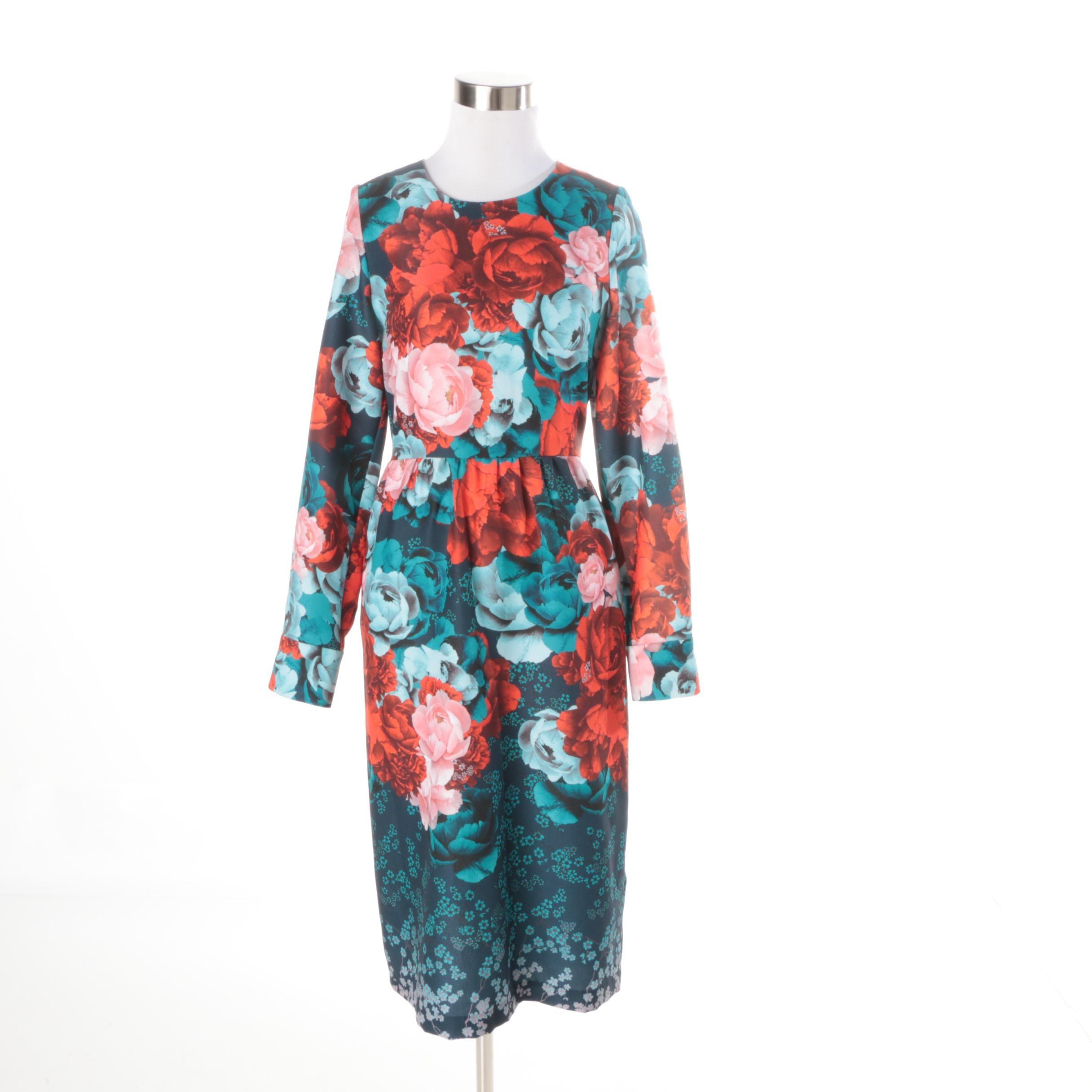 Trelise Cooper Floral Print Fit and Flare Sample Dress