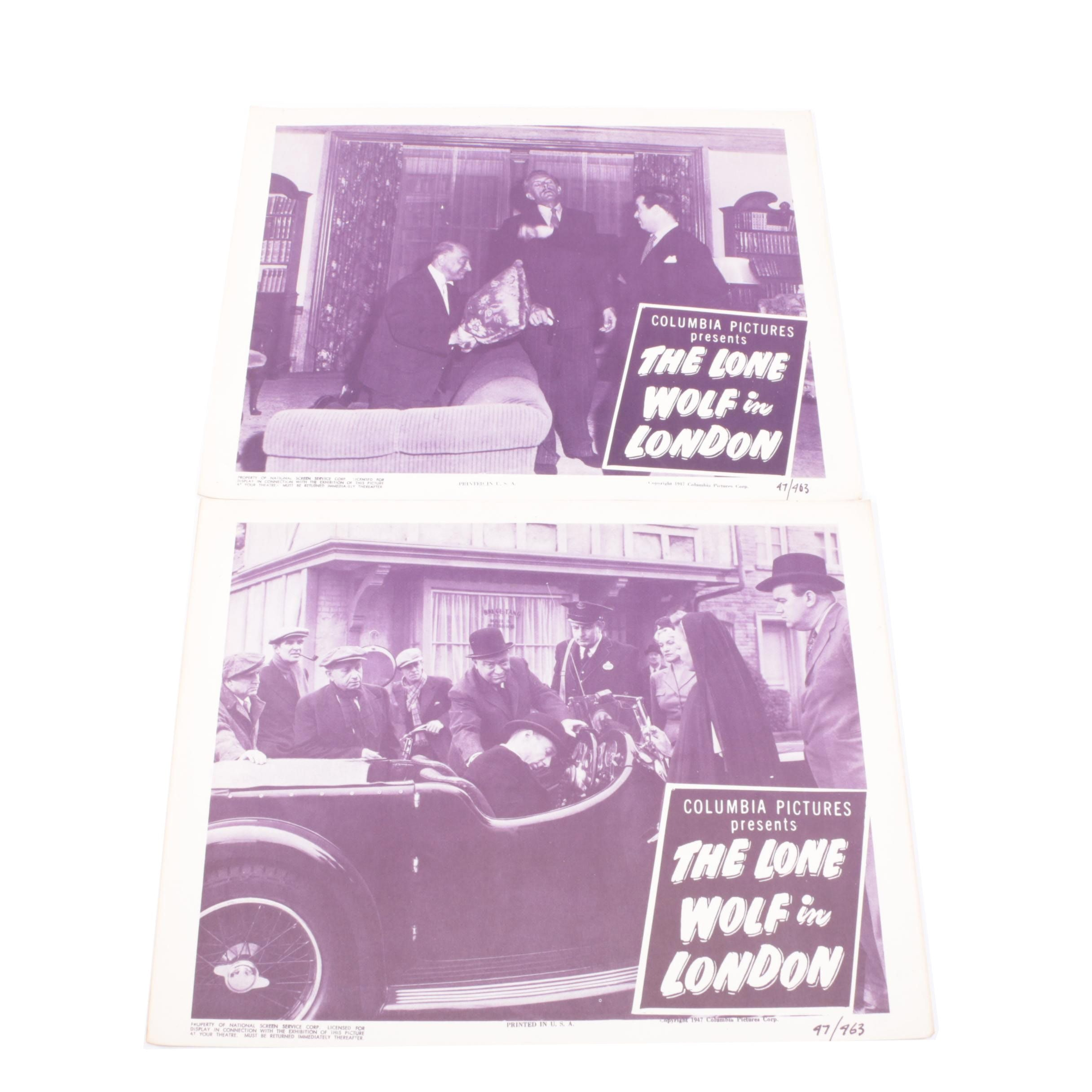 "Vintage ""The Lone Wolf in London"" Feature Film Lobby Cards"