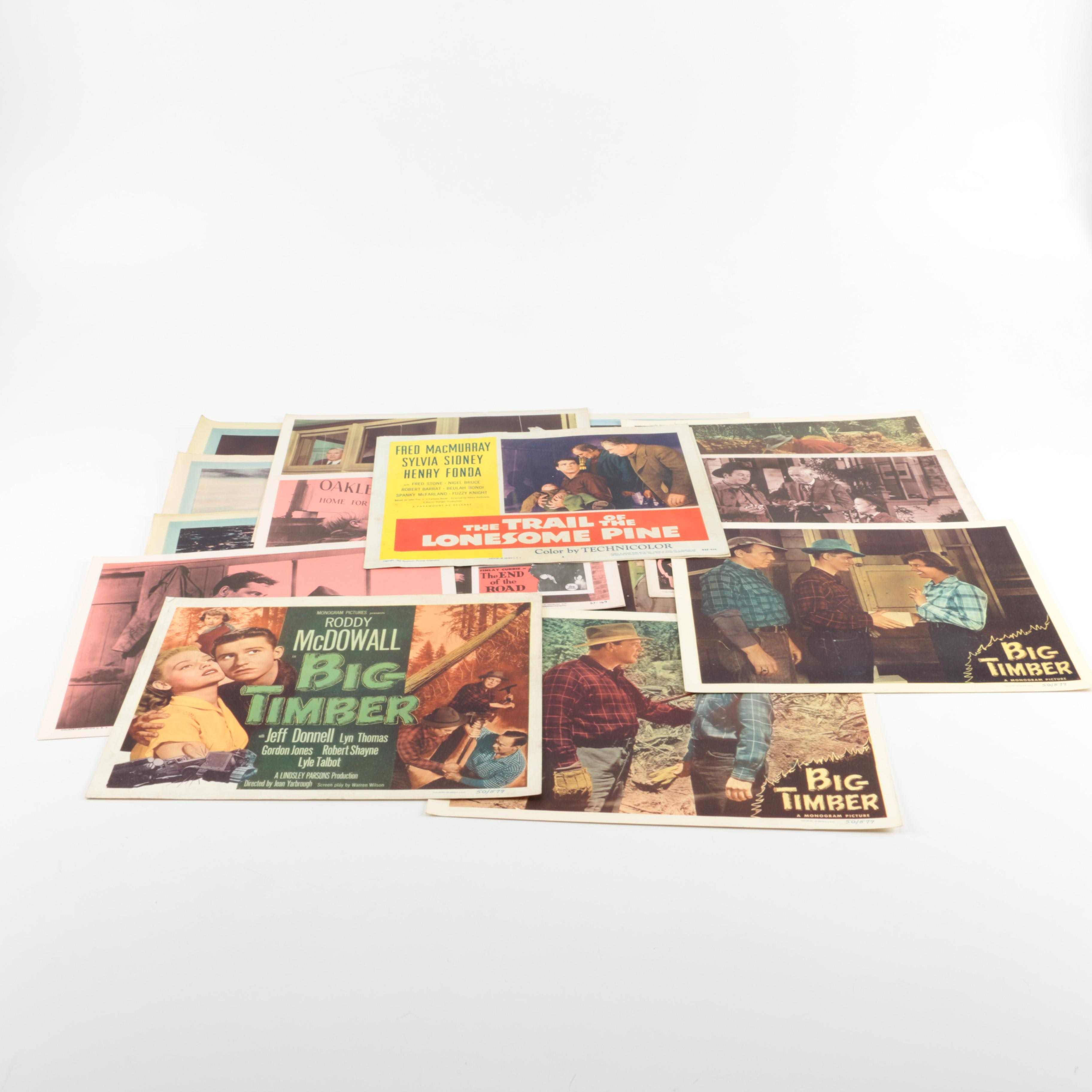 """""""Big Timber"""" and Other Vintage Lobby Cards"""