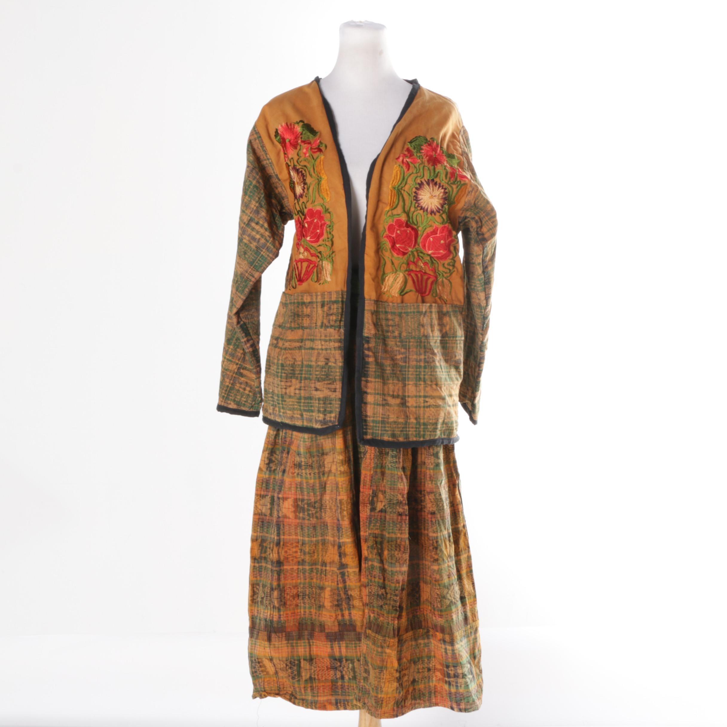 Women's Vintage Guatemalan Skirt and Jacket