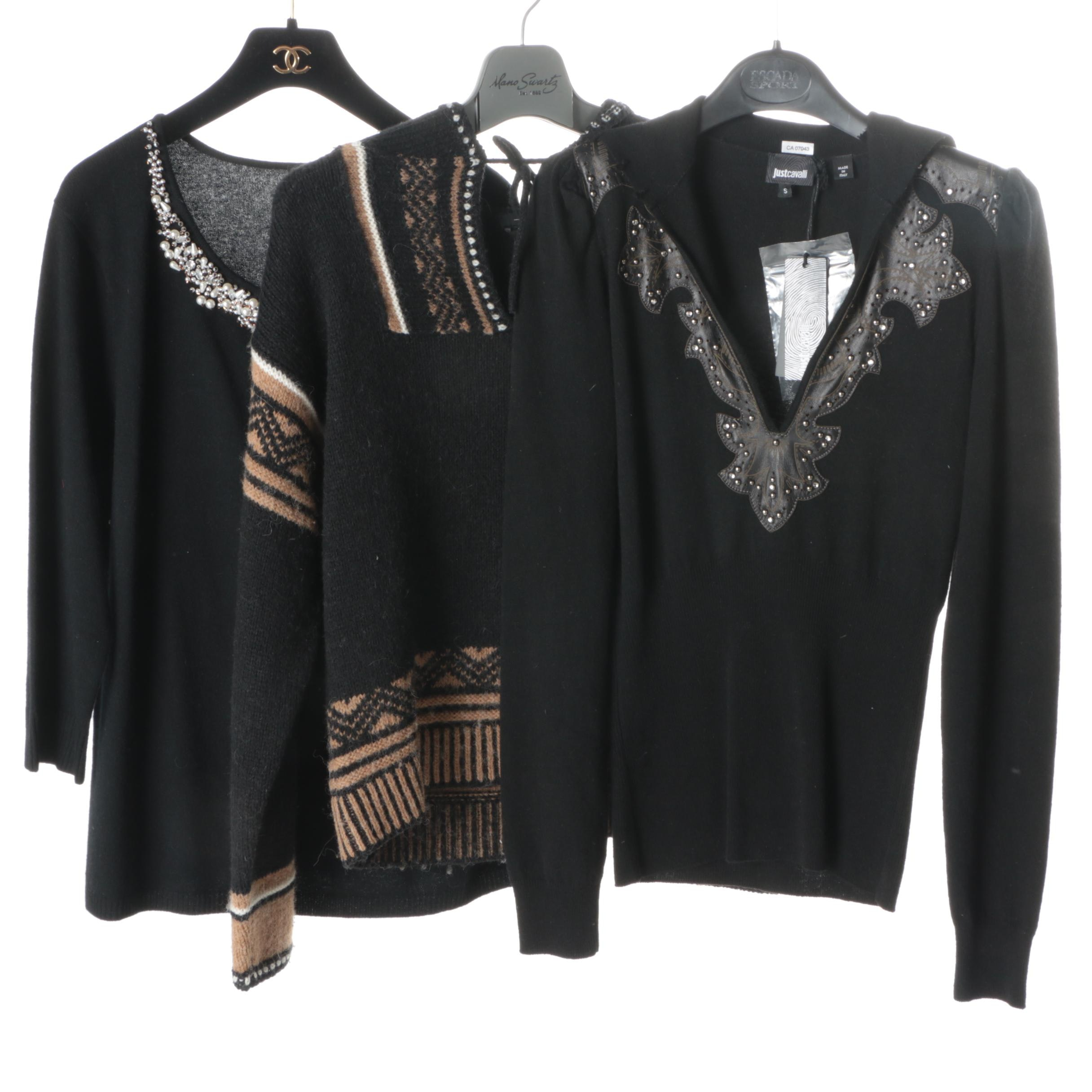 Women's Black Sweaters Including Just Cavalli