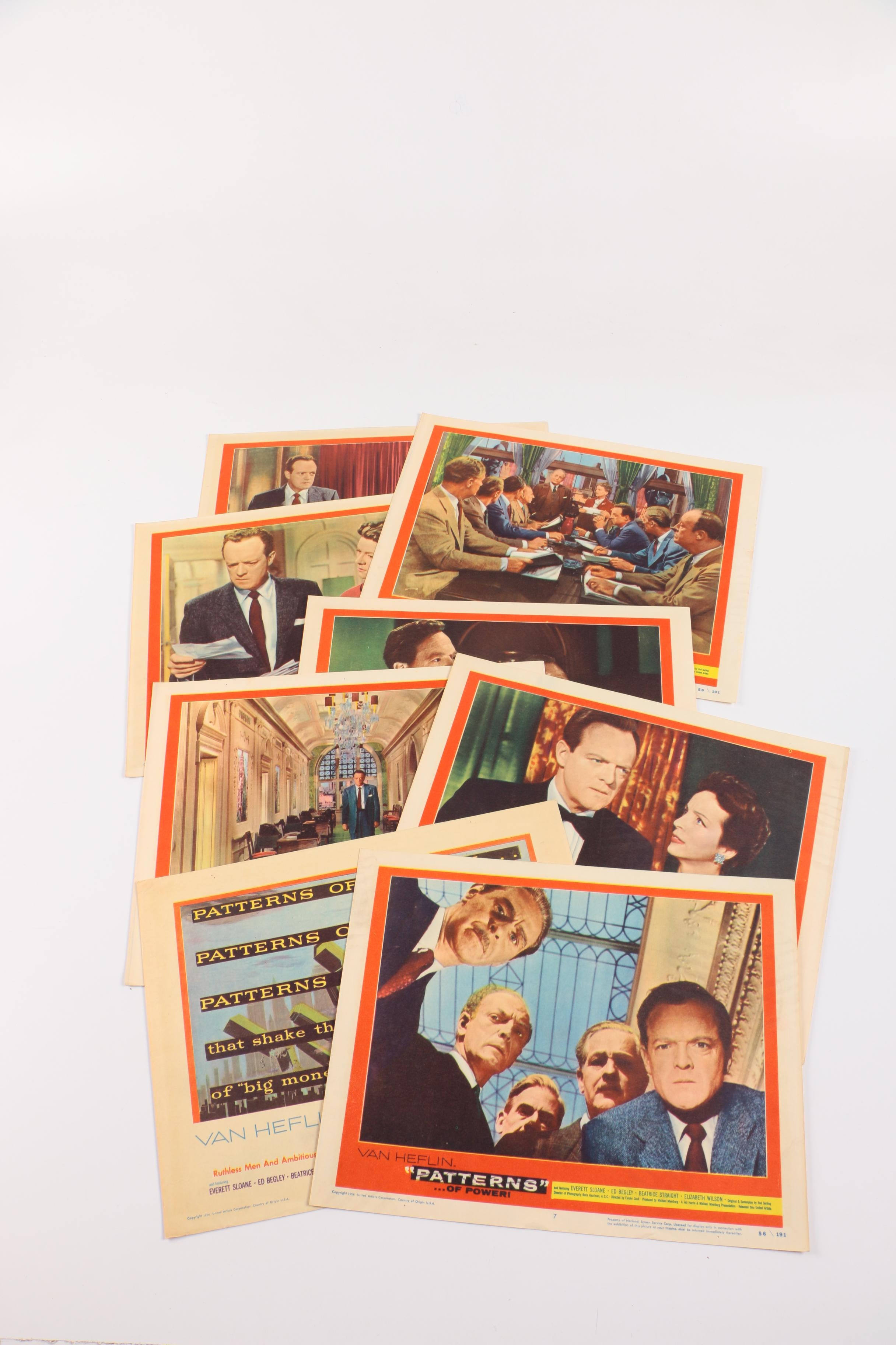 "Vintage 1956 ""Patterns"" Feature Film Lobby Cards"