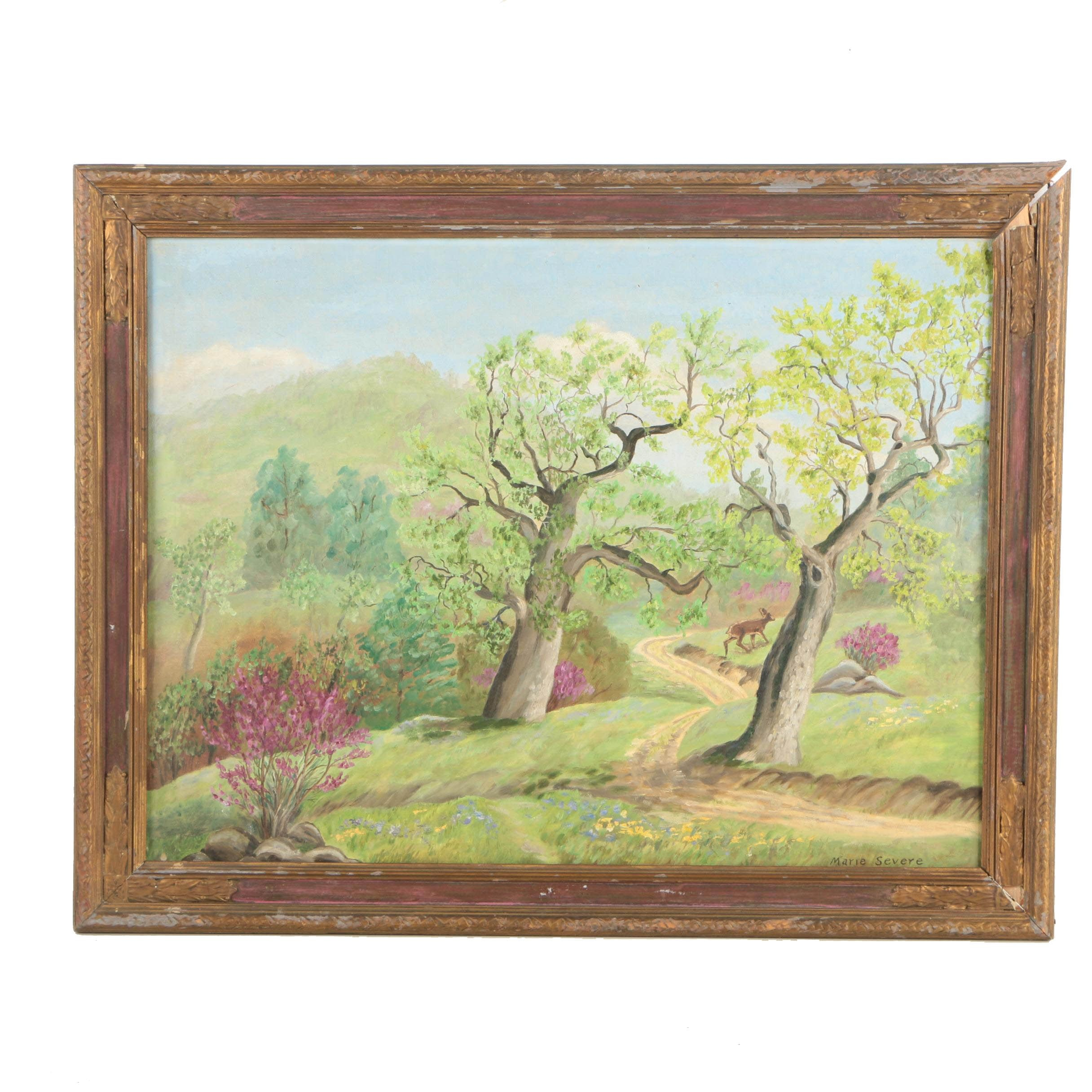 Marie Severe Oil Painting of a Serene Landscape
