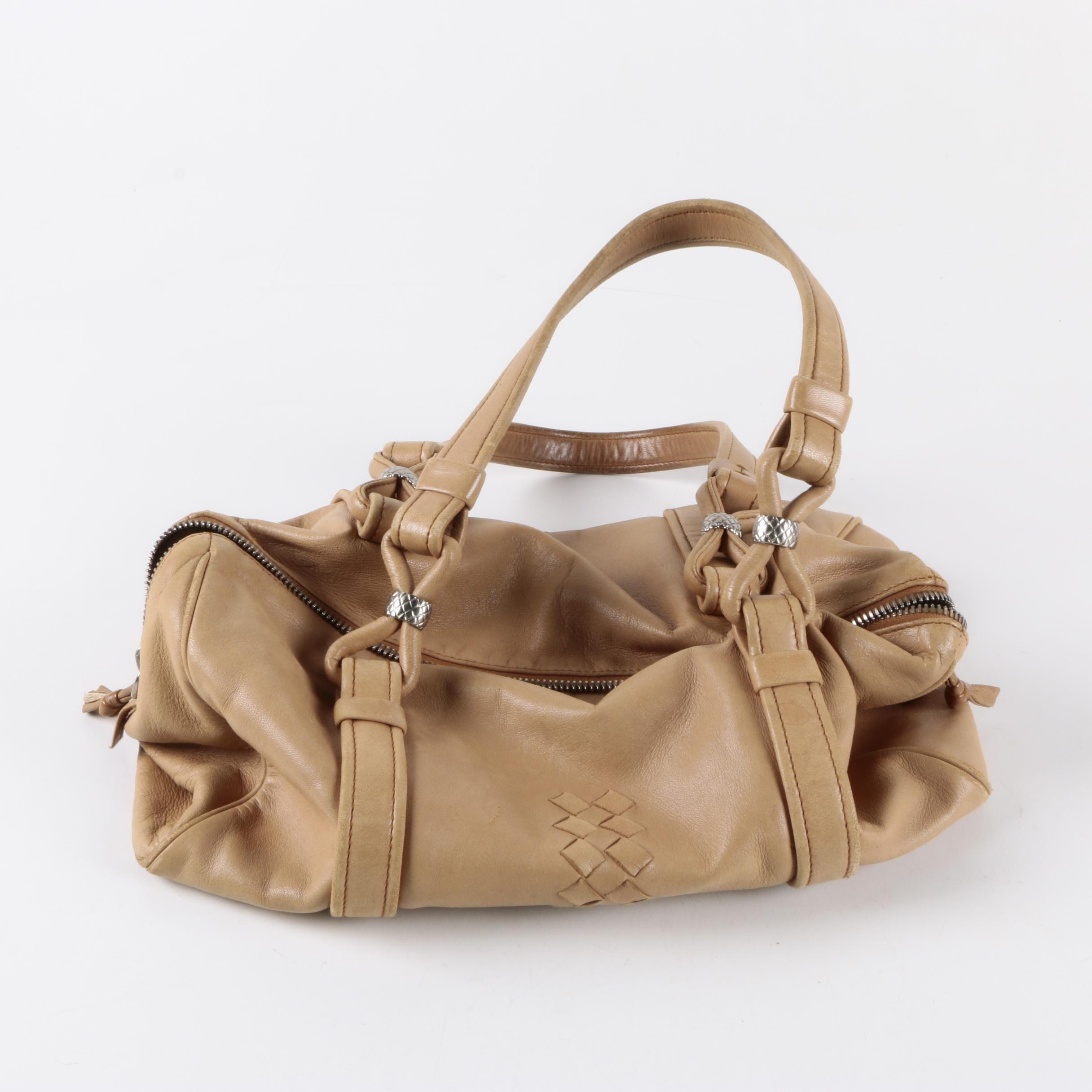 Bottega Veneta Leather Duffel Style Handbag