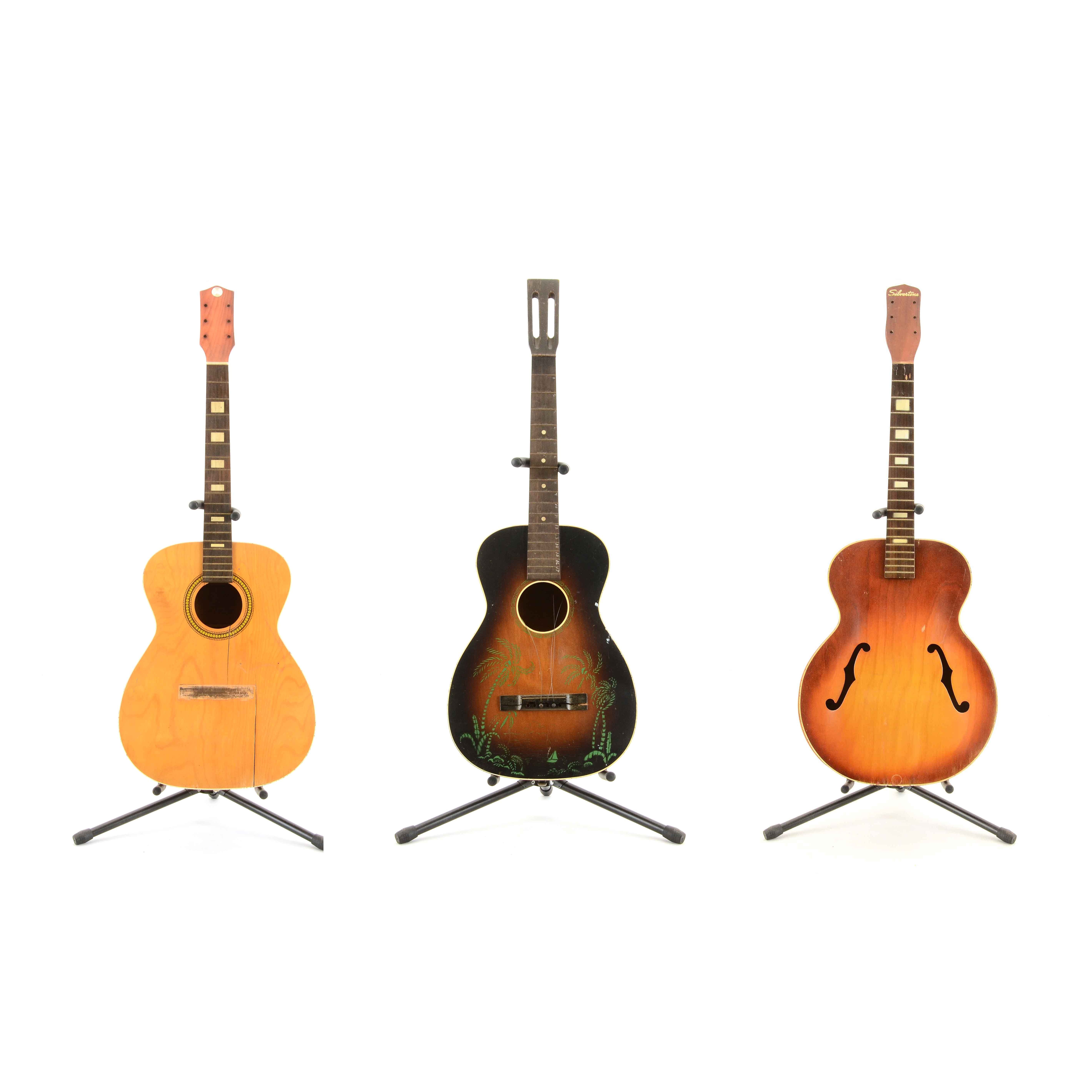Vintage Acoustic Guitars By Silvertone, Sears Roebuck, and Kay