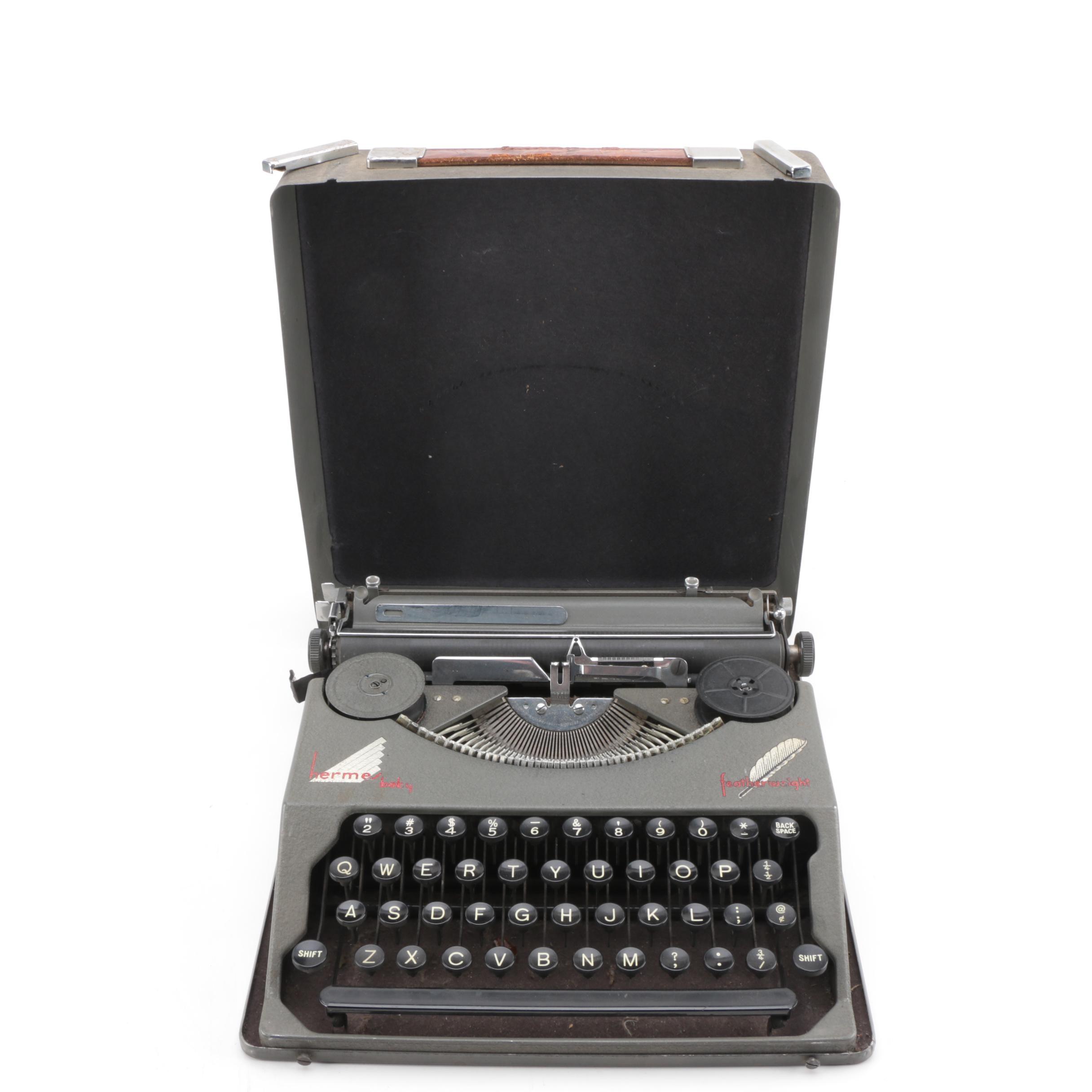 "Vintage Hermes ""Baby"" Portable Typewriter"