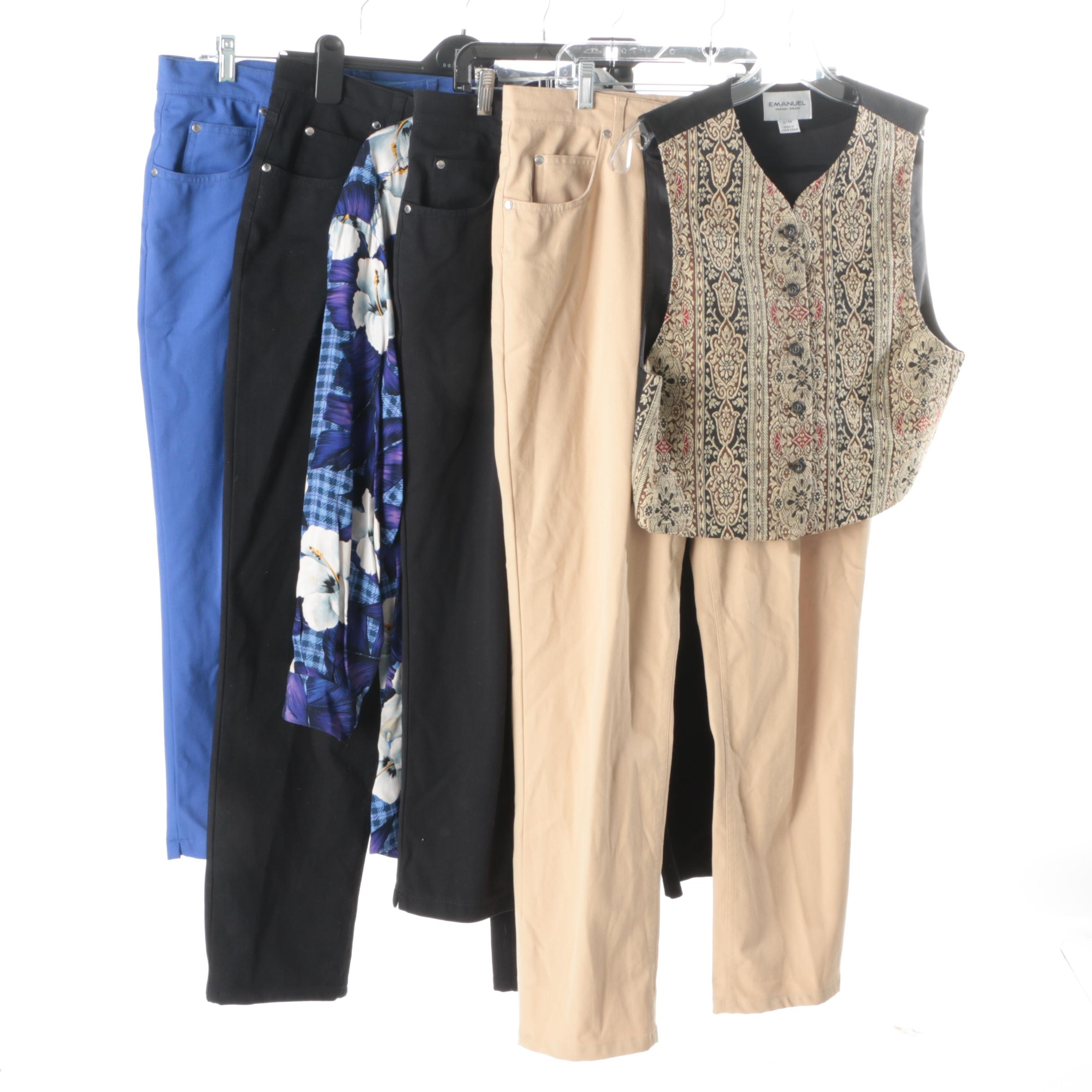 Women's Jeans and Tops Featuring Escada