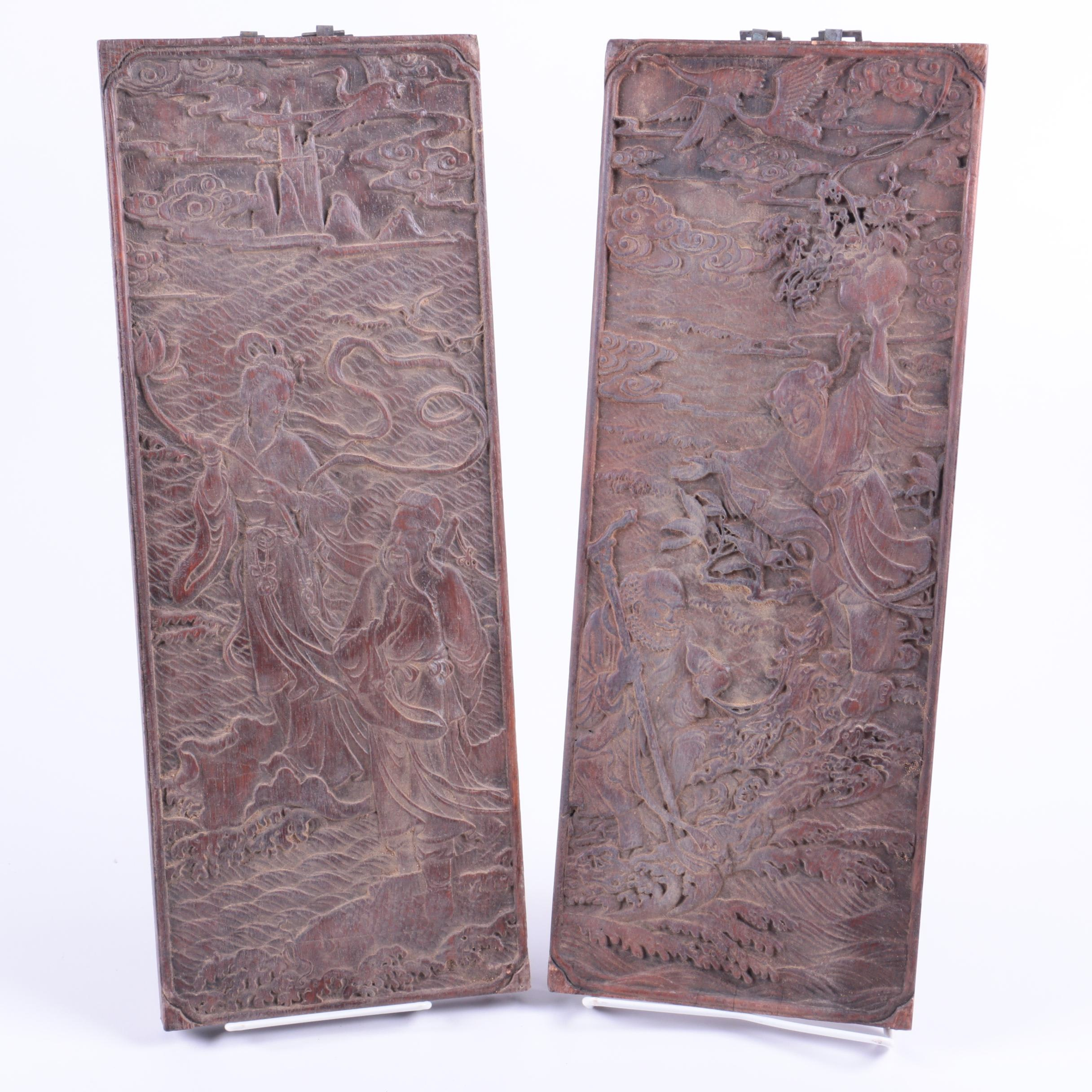 Chinese Carved Wooden Panels