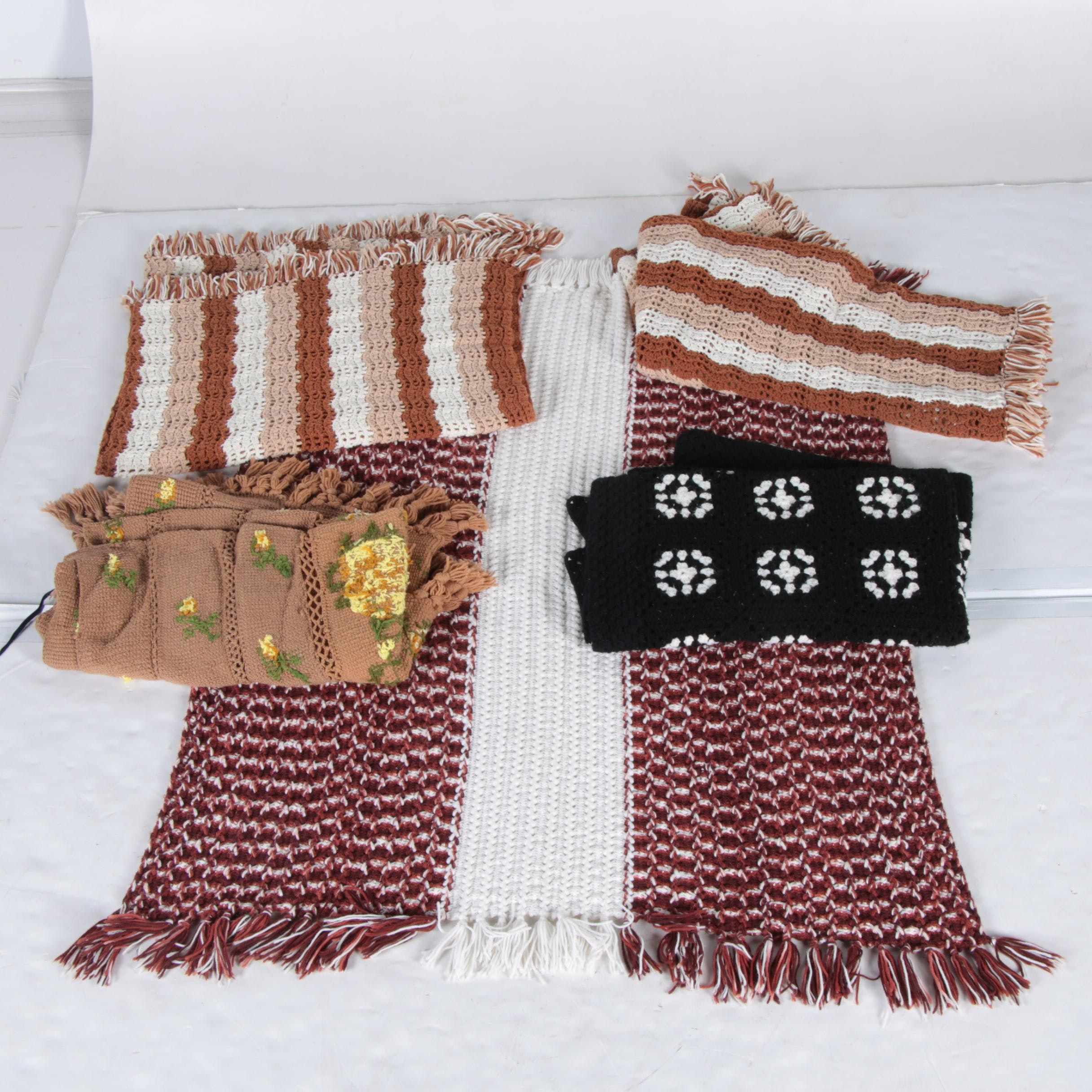 Five Hand Knitted Blankets
