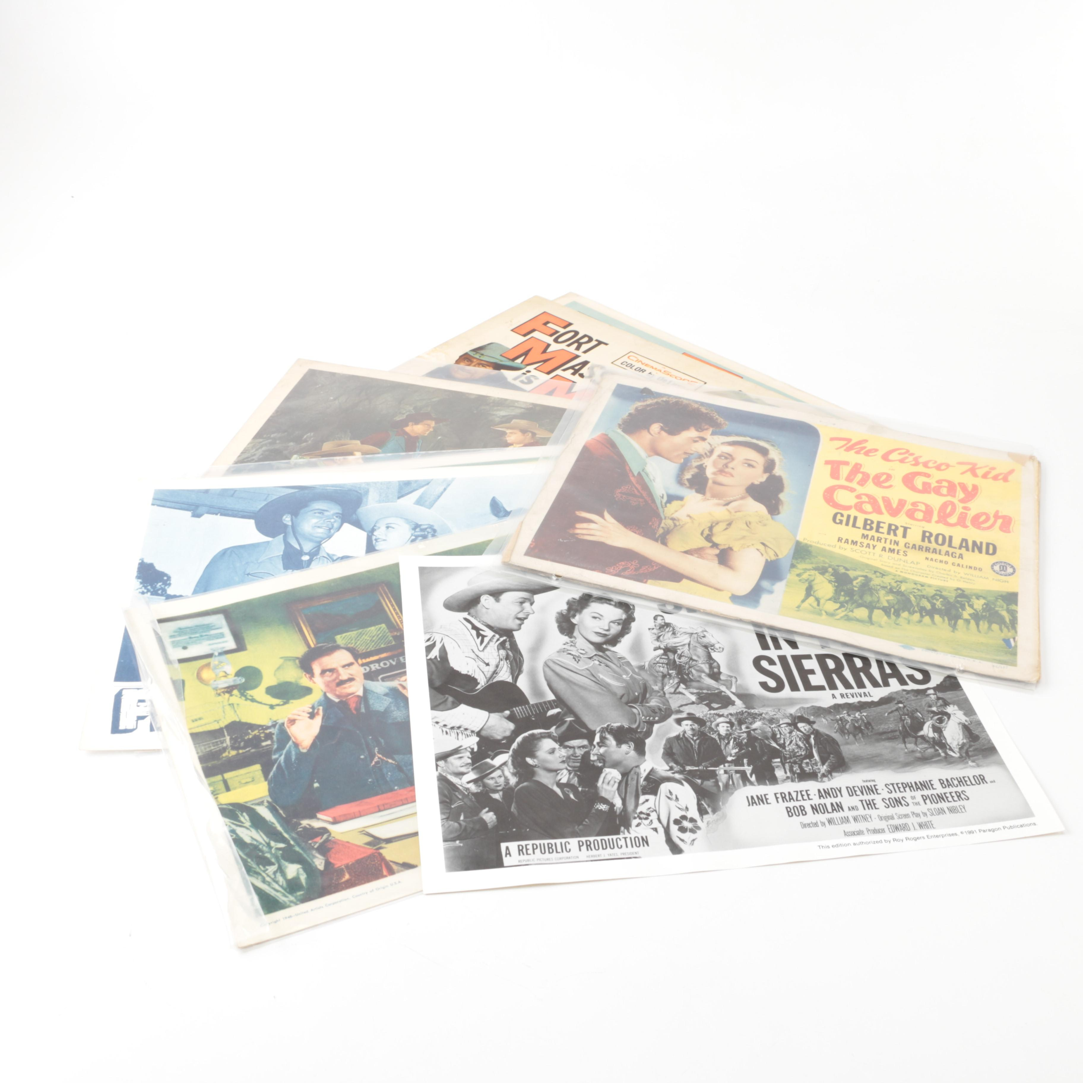 """1940s–1950s Western Lobby Cards Including """"Fort Massacre"""""""