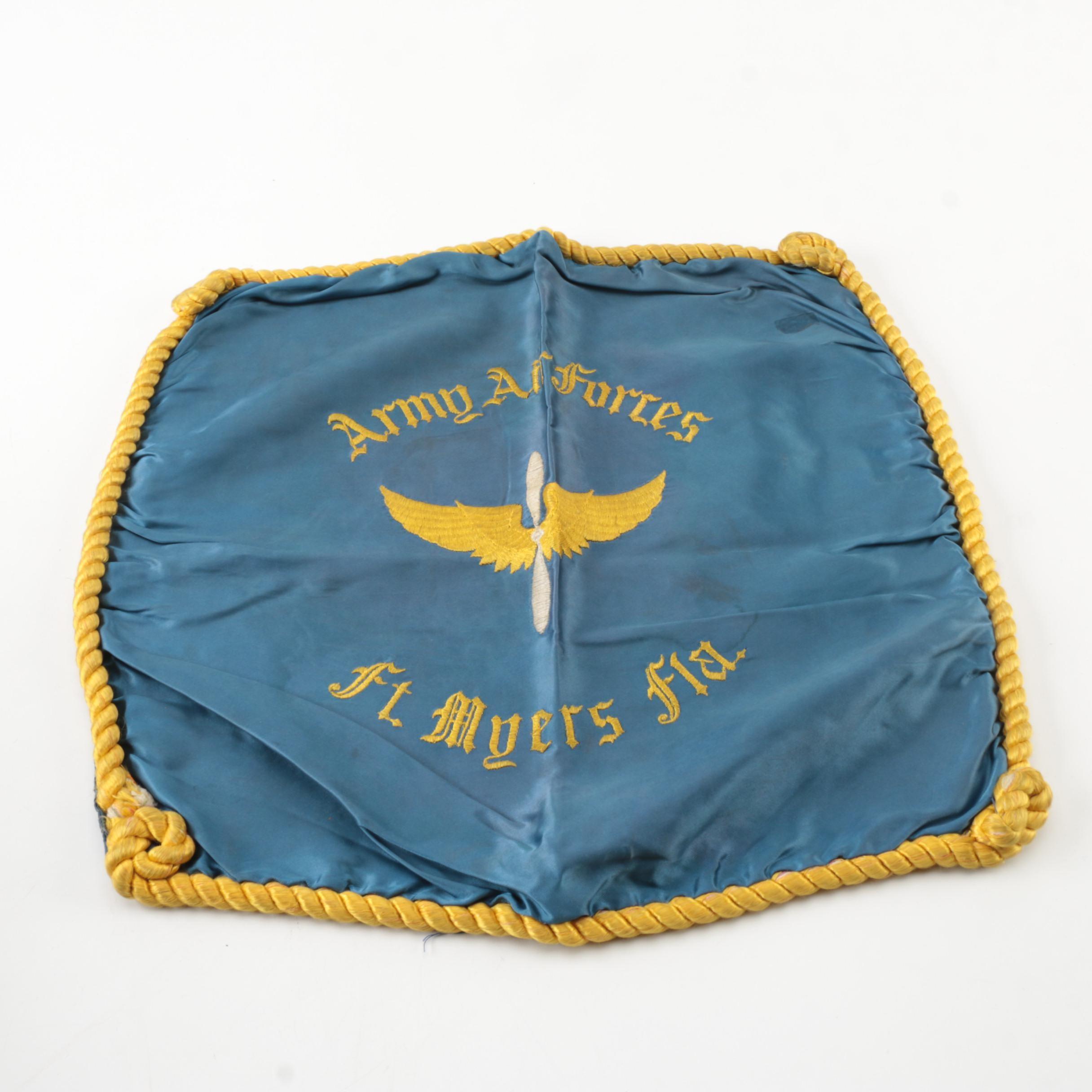 Vintage Army Air Forces Souvenir Pillow Cover