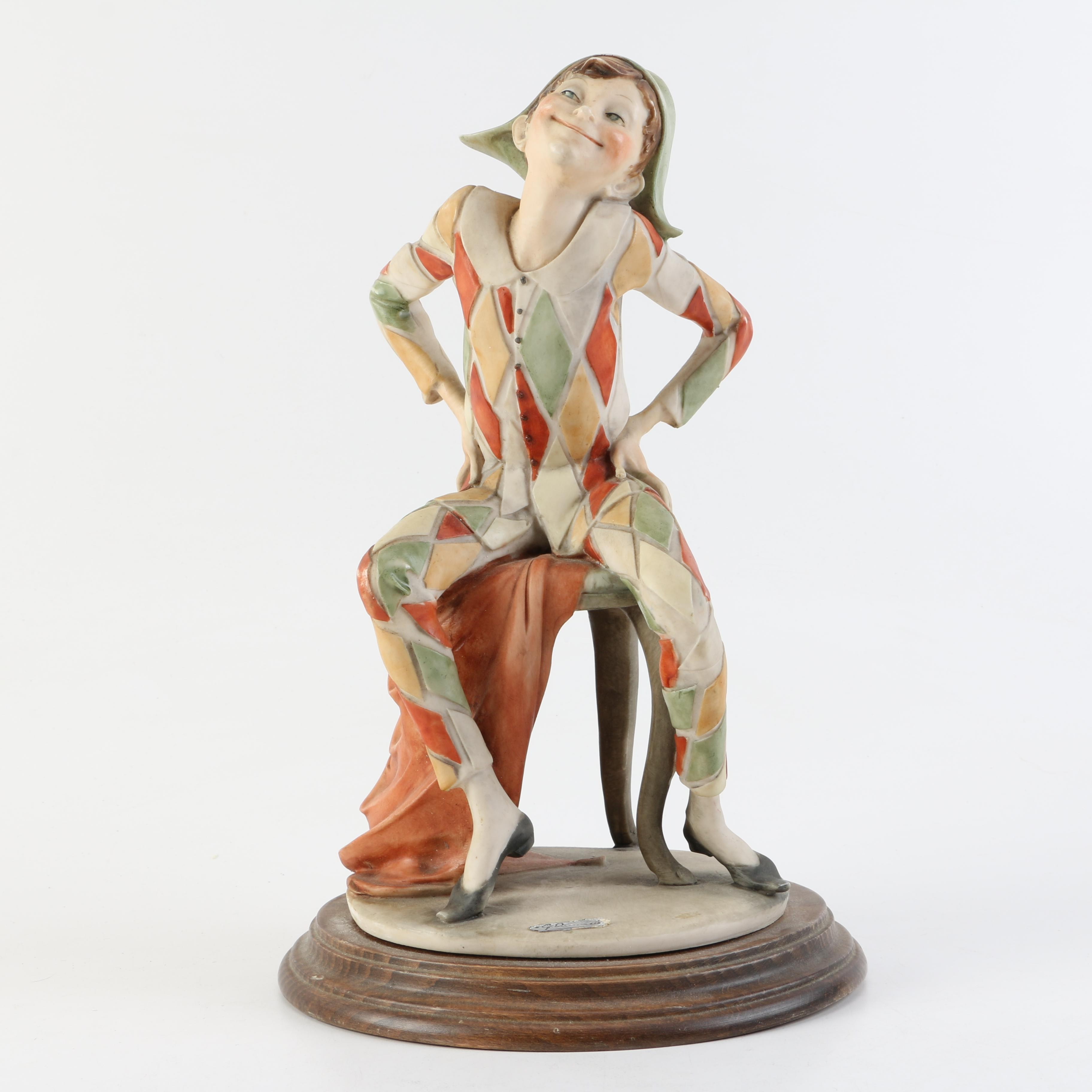 "Ceramic ""Harlequin"" Figurine by Giuseppe Armani"