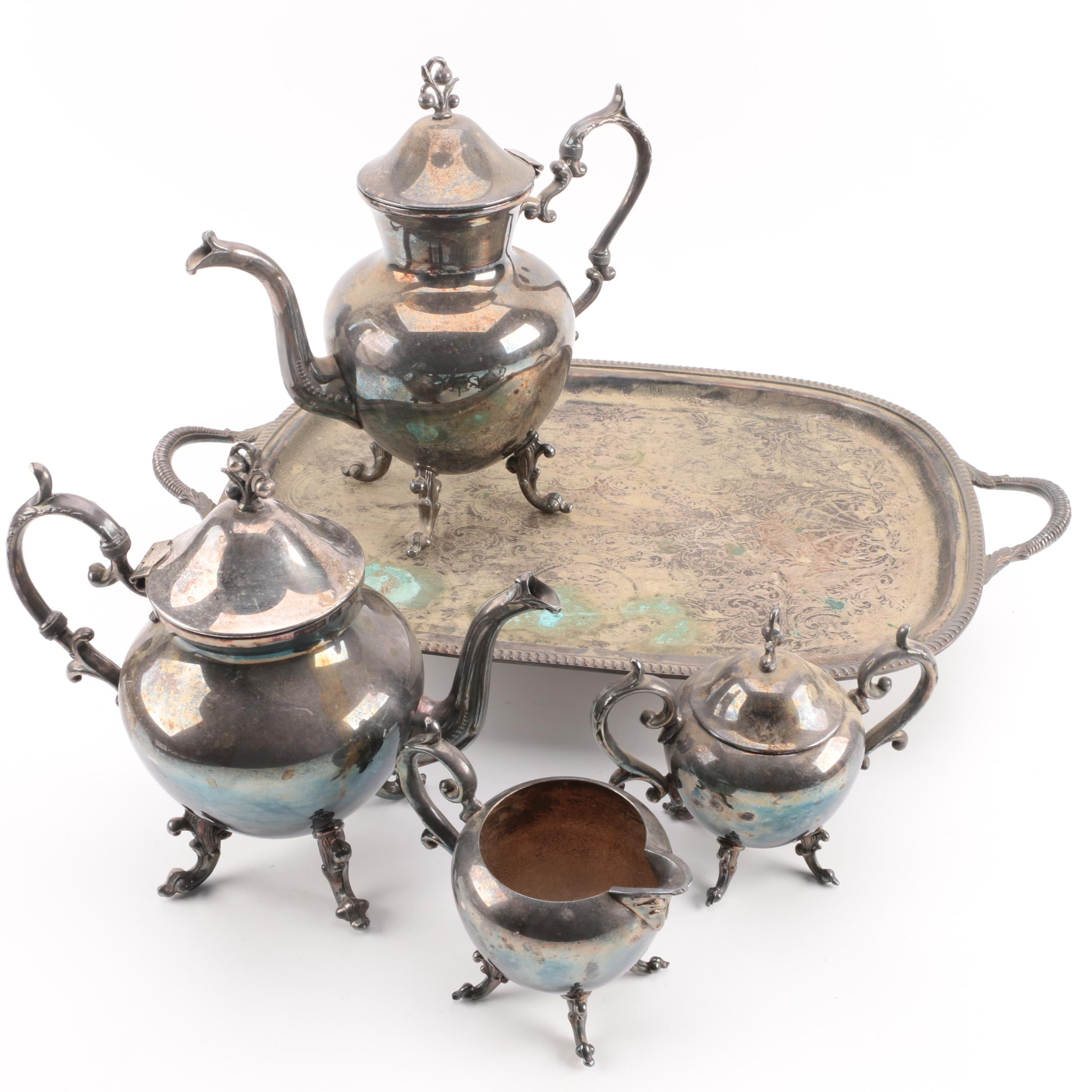 Birmingham Silver Company Silver Plate Coffee and Tea Service Set