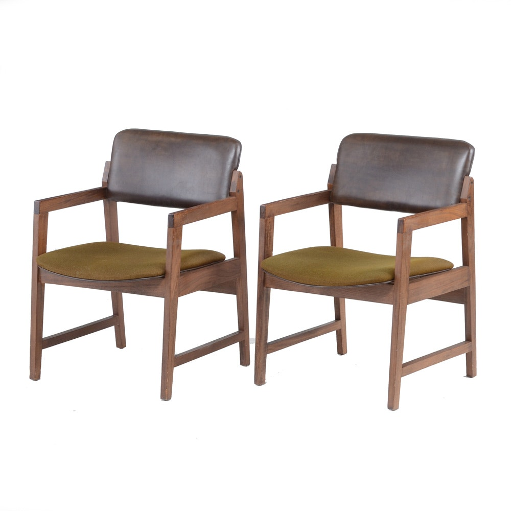 Pairing of Mid Century Modern Style HON Arm Chairs