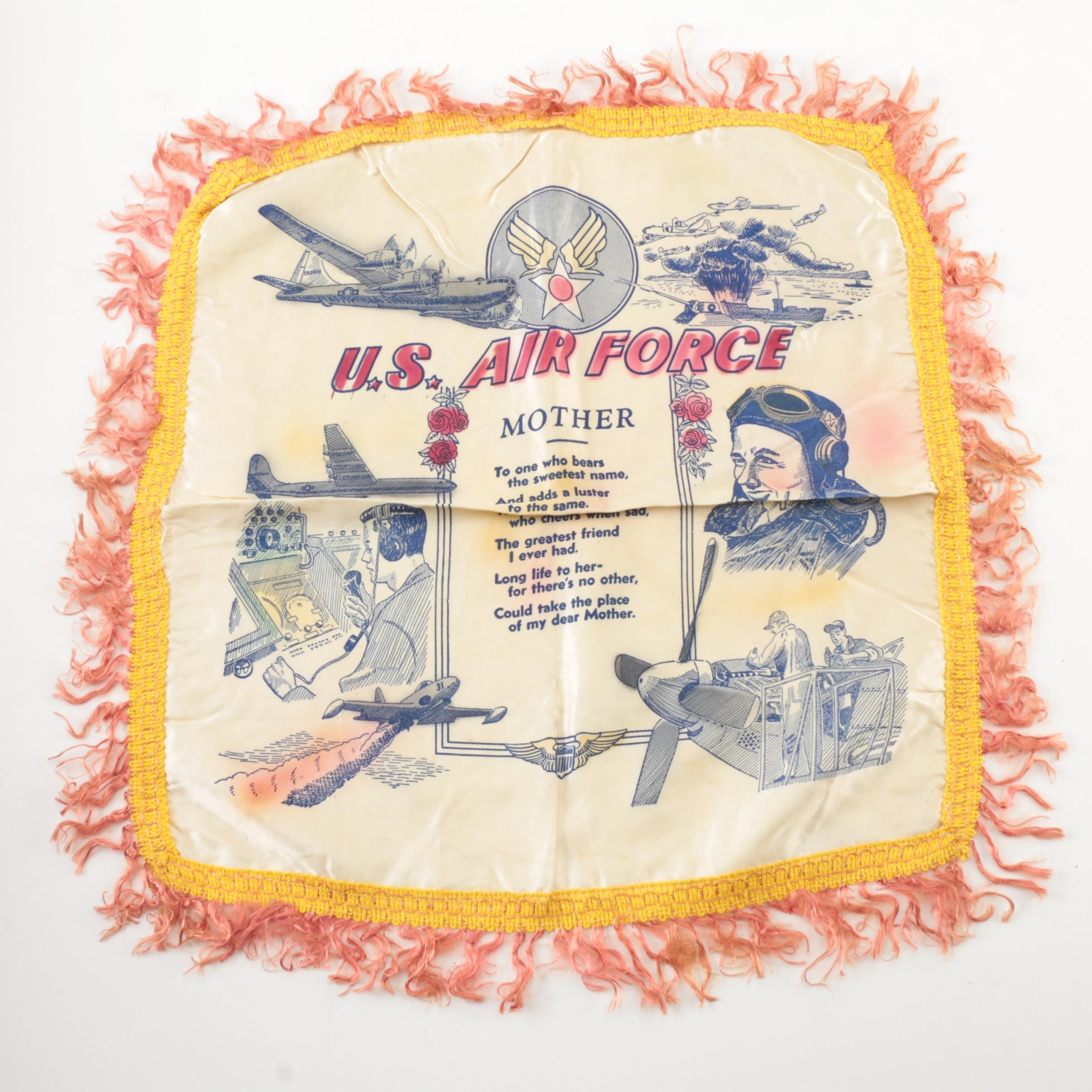 """U.S. Air Force """"Mother"""" Pillow Cover"""